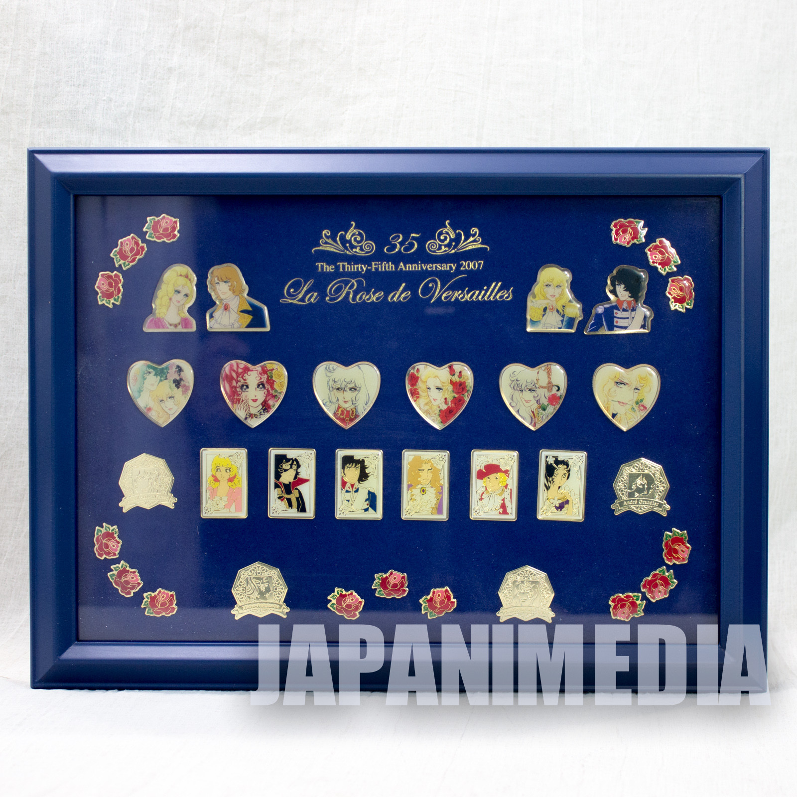 The Rose of Versailles Metal Pins Art Collection 35th Anniversary JAPAN ANIME