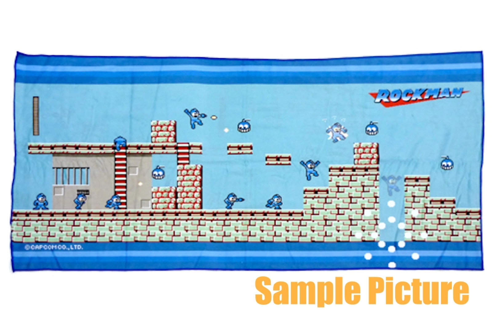 Rockman Kuji Bath Towel 60x120cm (24x47 inch) JAPAN GAME CAPCOM Mega man