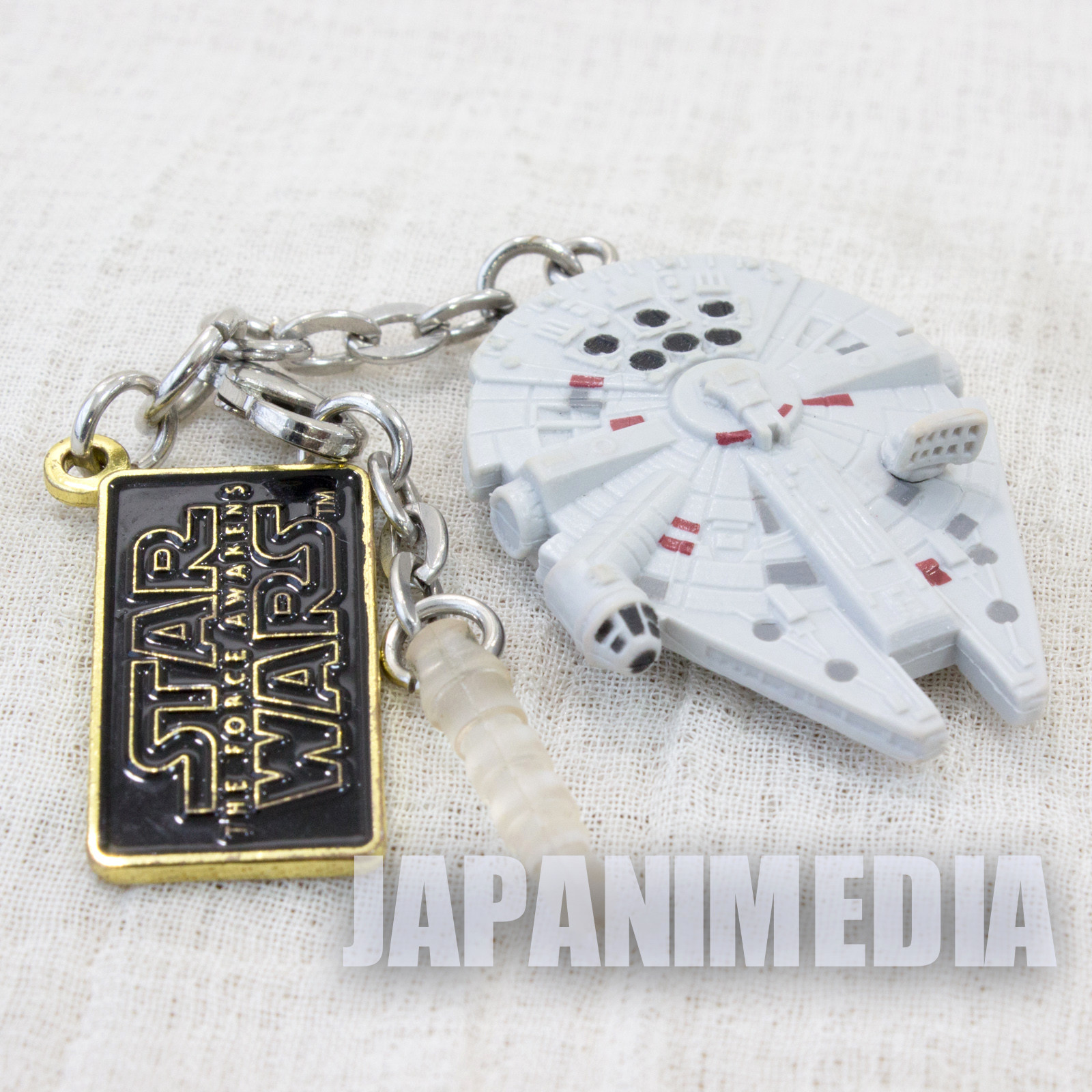 STAR WARS Millennium Falcon Earphone jack Mascot figure MOVIE SF
