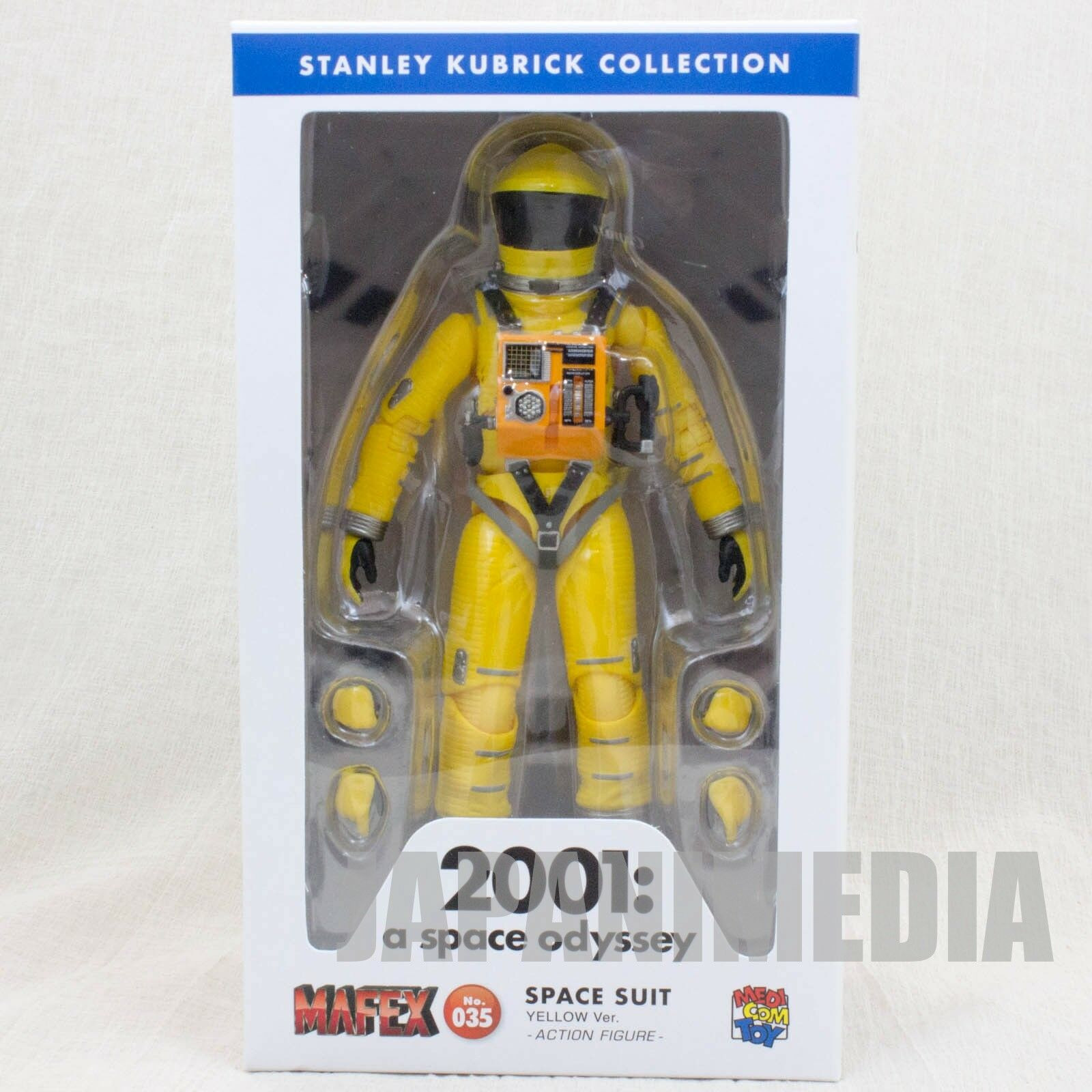 2001 A Space Odyssey Action Figure Space Suit Yellow Ver. Medicom MAFEX