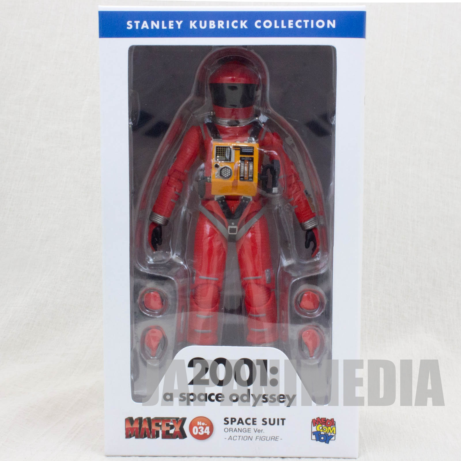 2001 A Space Odyssey Action Figure Space Suit Red Ver. Medicom MAFEX