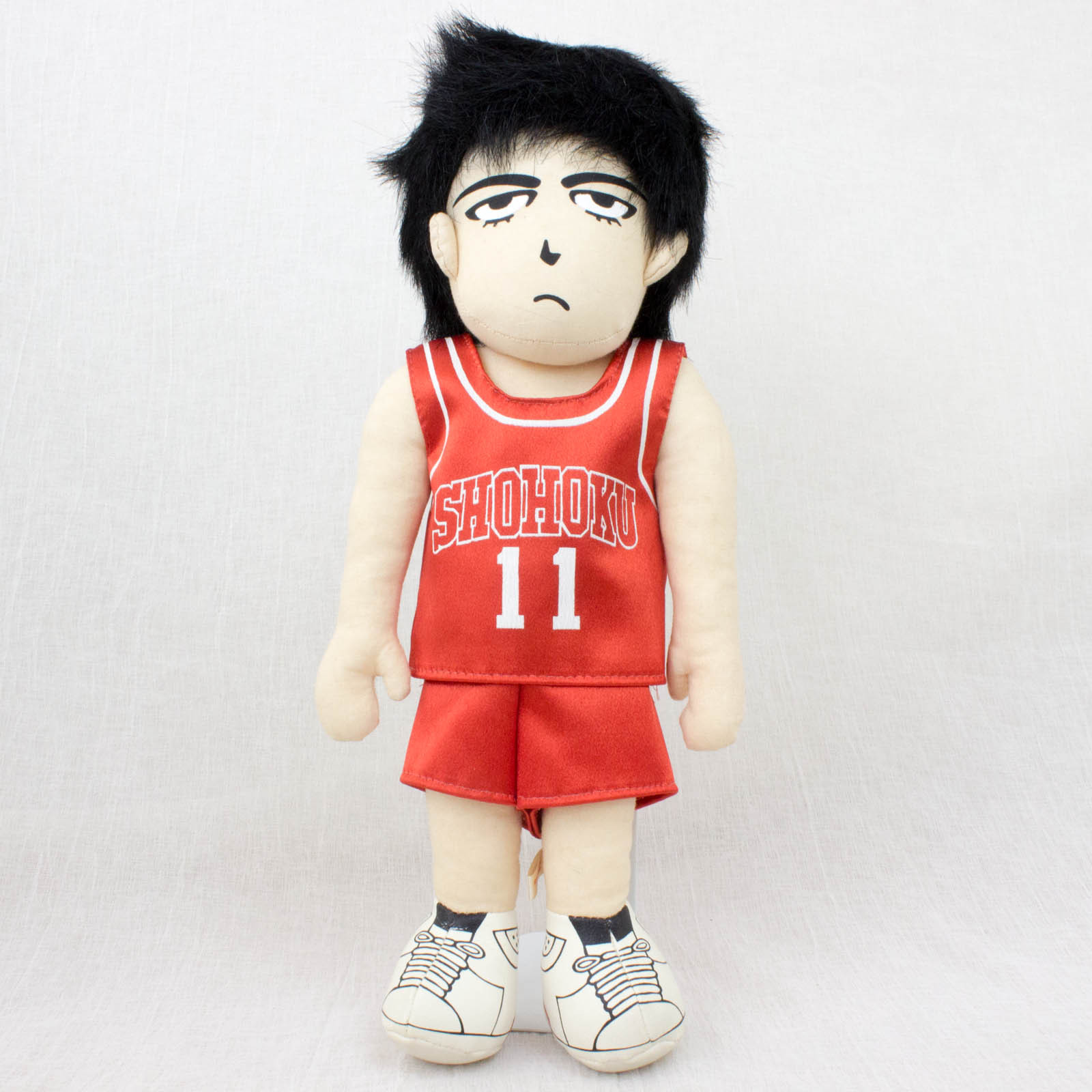 "Slam Dunk Shohoku Kaede Rukawa ""13 Plush Doll BANDAI 1993 JAPAN ANIME MANGA JUMP"