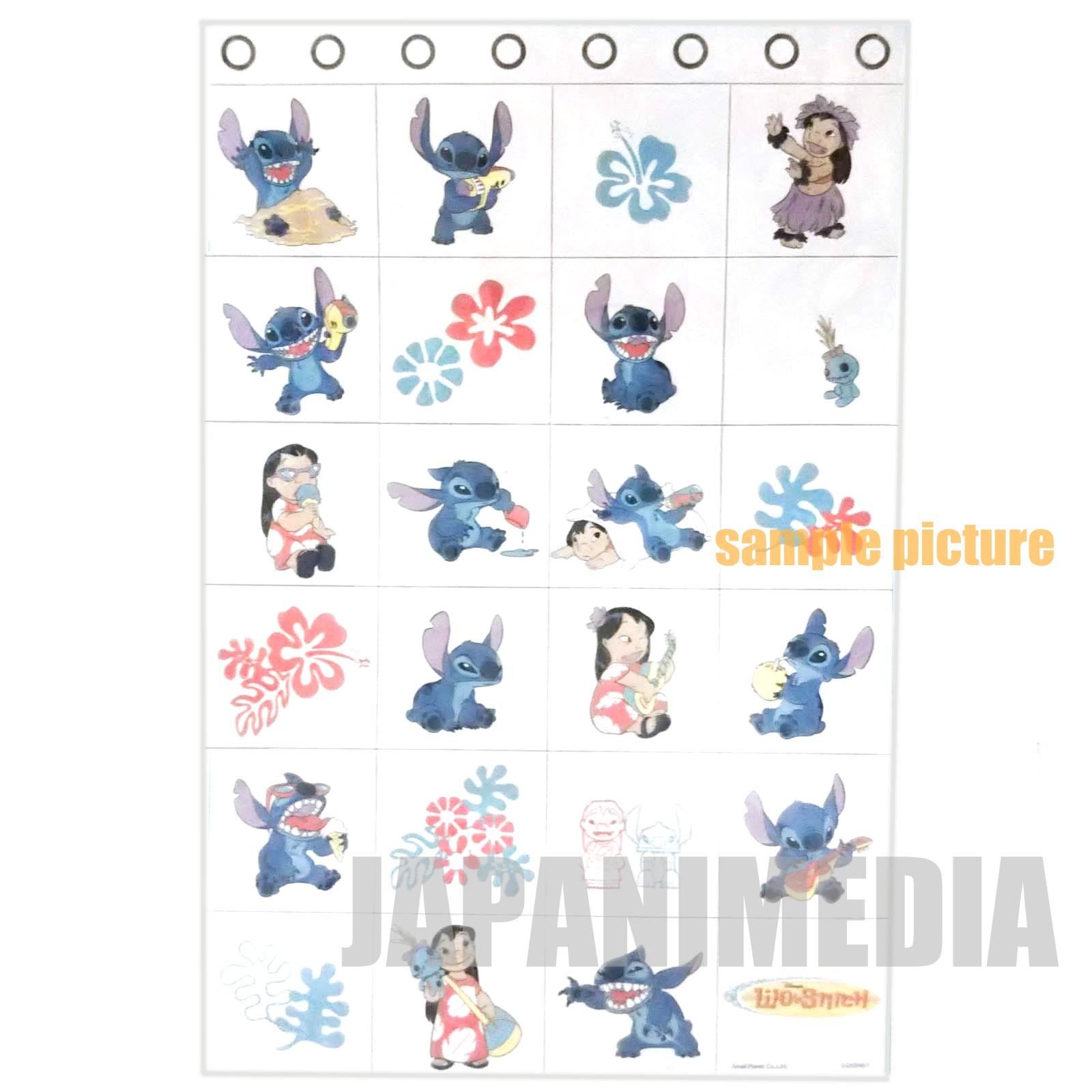 Disney Lilo & Stitch 24p Wall Pocket (104.5 x 68.5cm) JAPAN ANIME