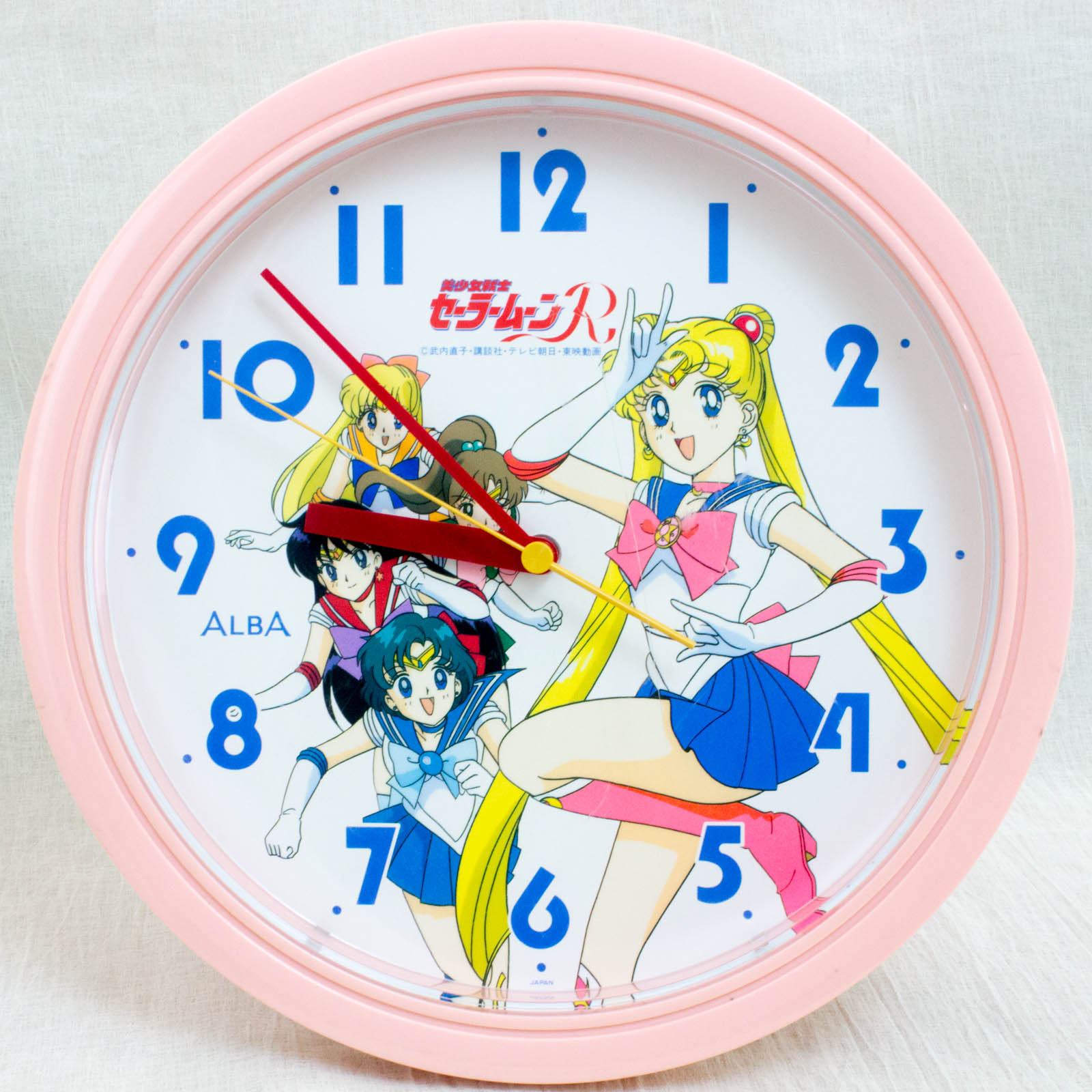 {Damaged} Retro Sailor Moon R Wall Clock JAPAN ANIME