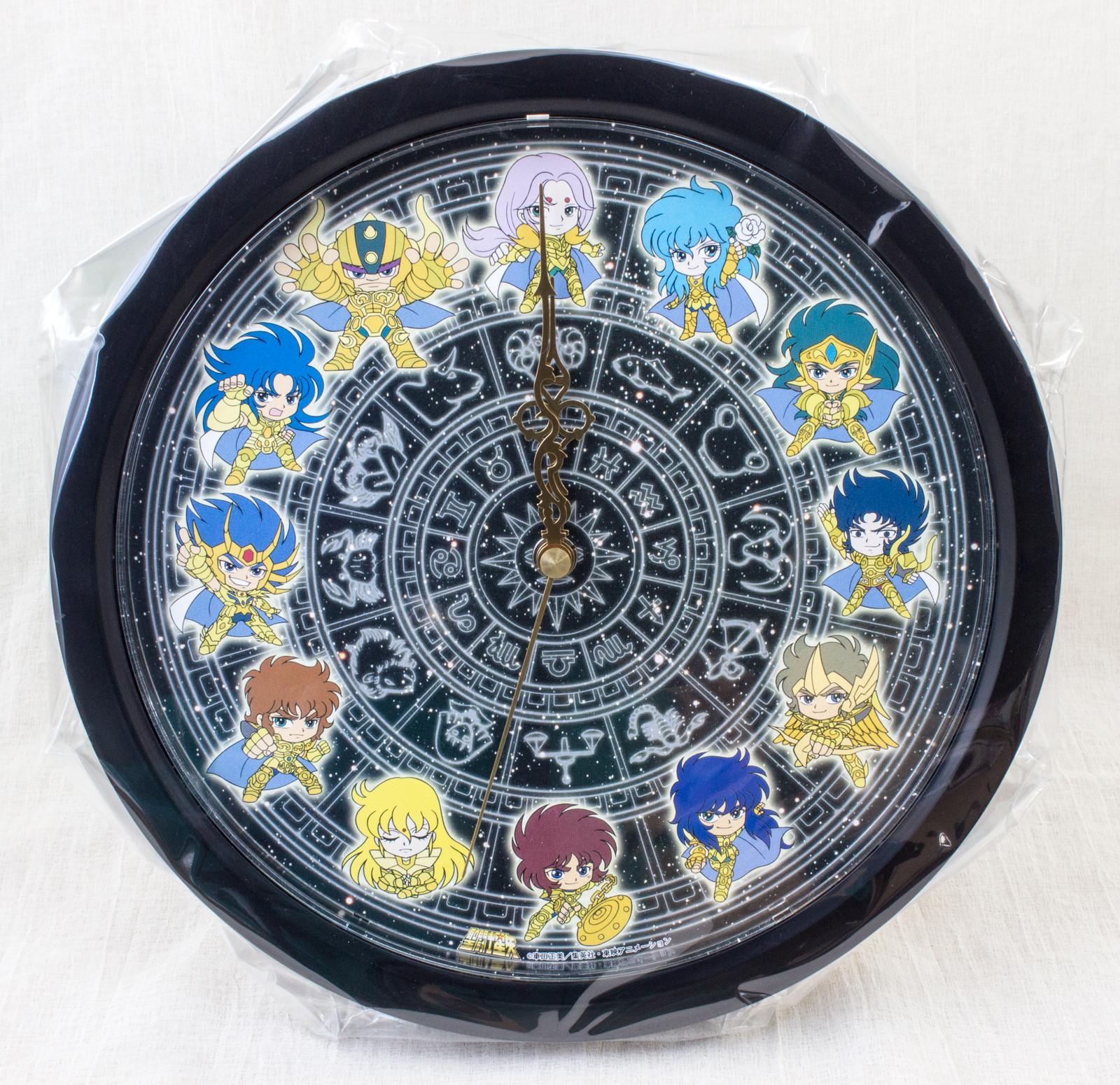 Super RARE! Saint Seiya Gold Saint Wall Clock JAPAN ANIME