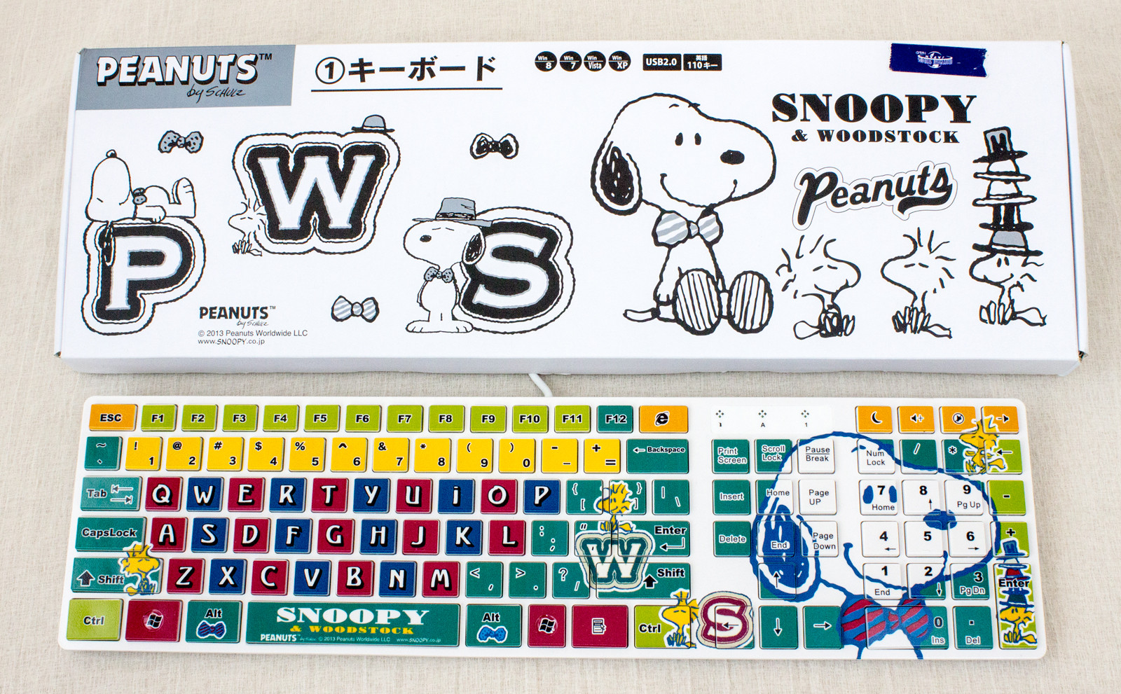 RARE! Snoopy & Woodstock USB2.0 Keyboard Peanuts JAPAN ANIME