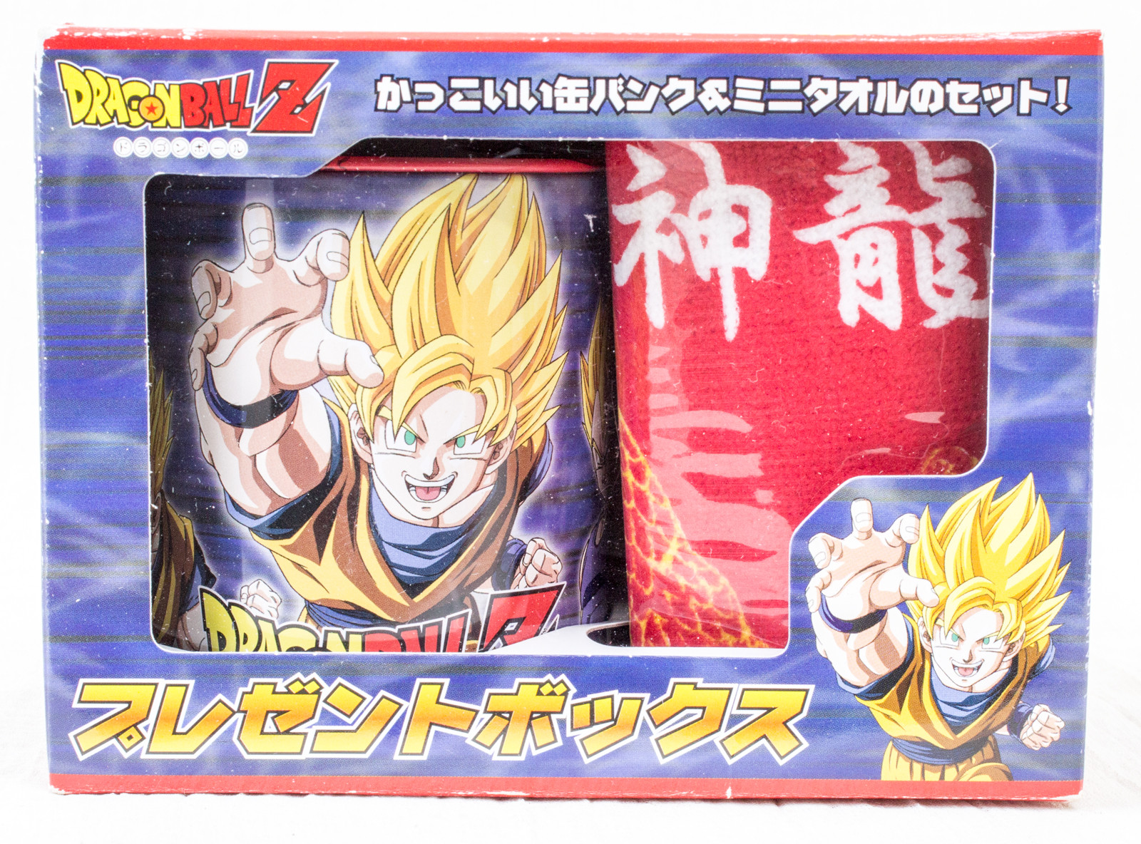Dragon Ball Z Son Gokou Can Bank & Mini Towel Set JAPAN ANIME