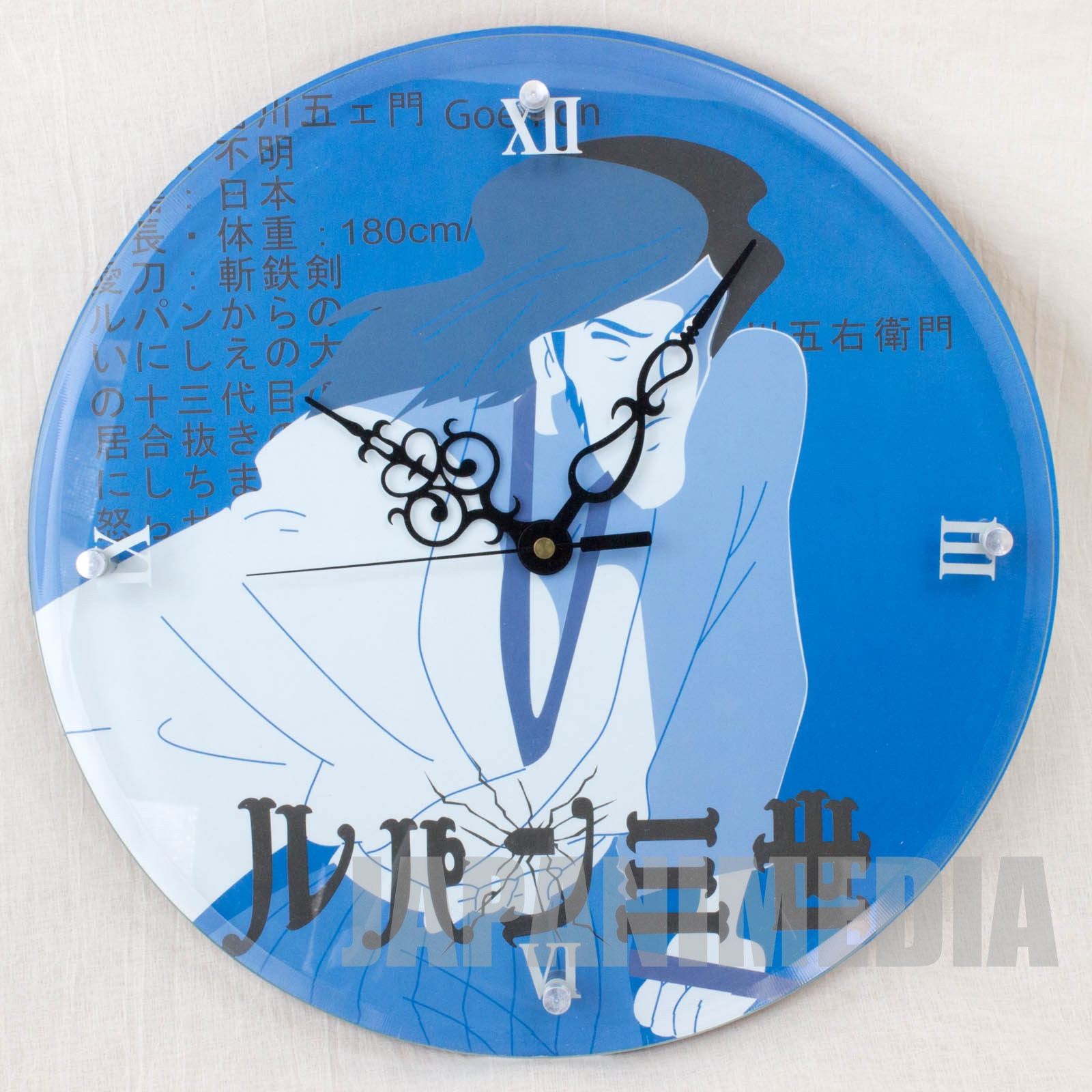RARE!! Lupin the Third (3rd) Goemon Ishikawa Wall clock JAPAN ANIME