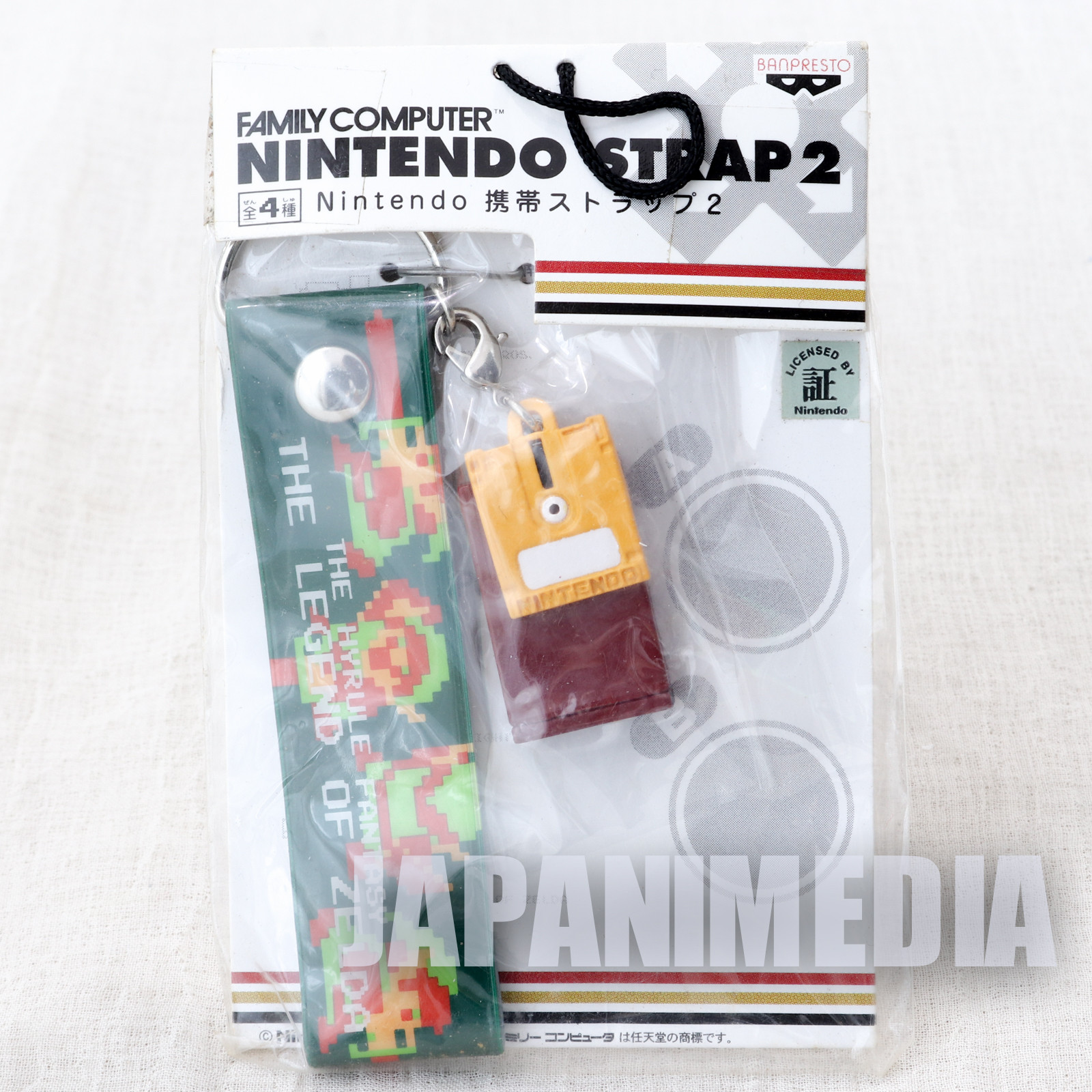 Nintendo Famicom Miniature Figure Strap Legend of Zelda Ver. JAPAN GAME NES 3