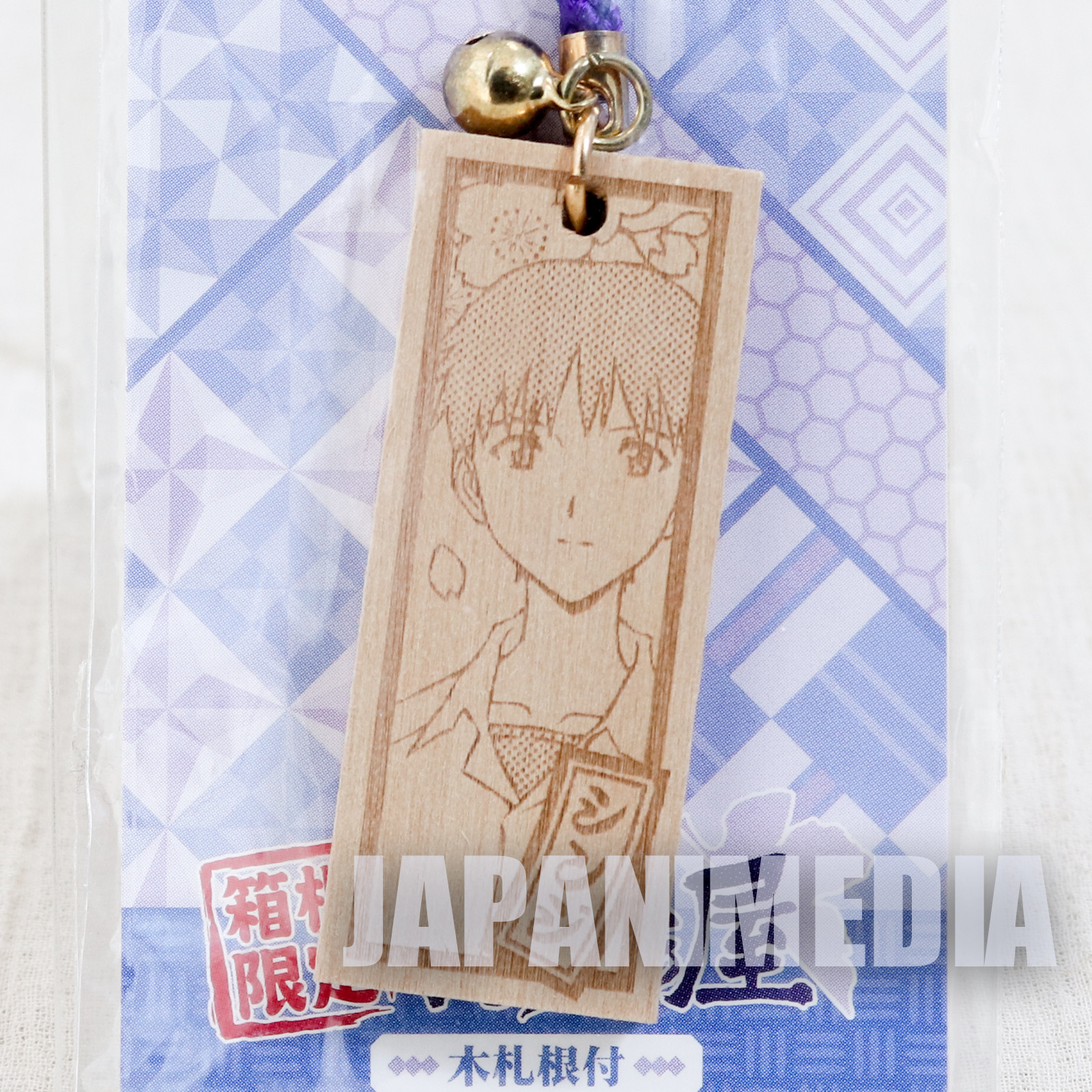 Evangelion Shinji Ikari Picture Wood Plate Strap JAPAN ANIME