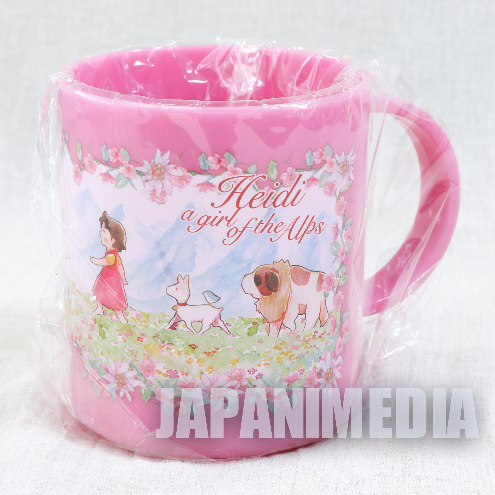 Heidi Girl of the Alps Plastic Mug Pink ver. JAPAN ANIME