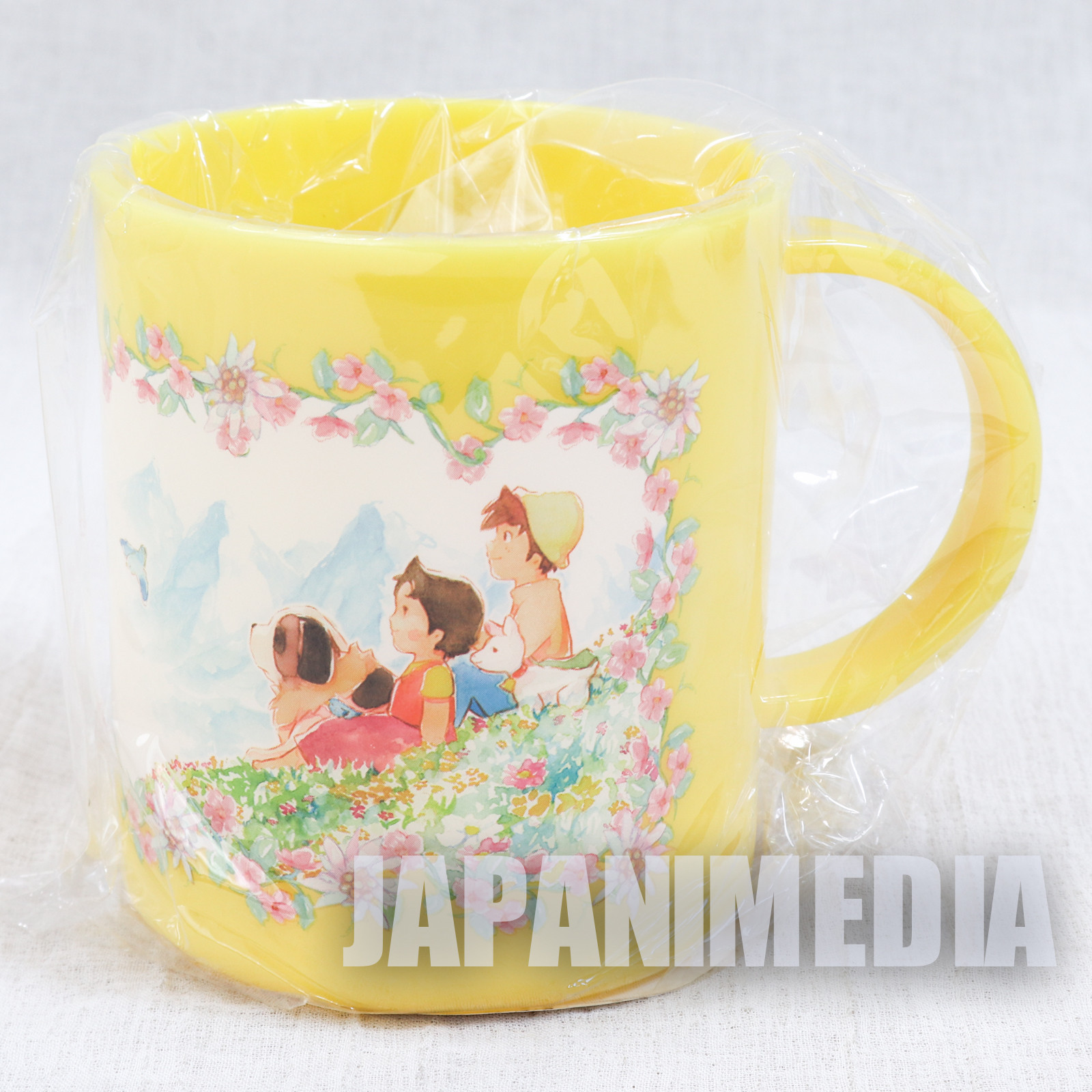 Heidi Girl of the Alps Plastic Mug Yellow ver. JAPAN ANIME