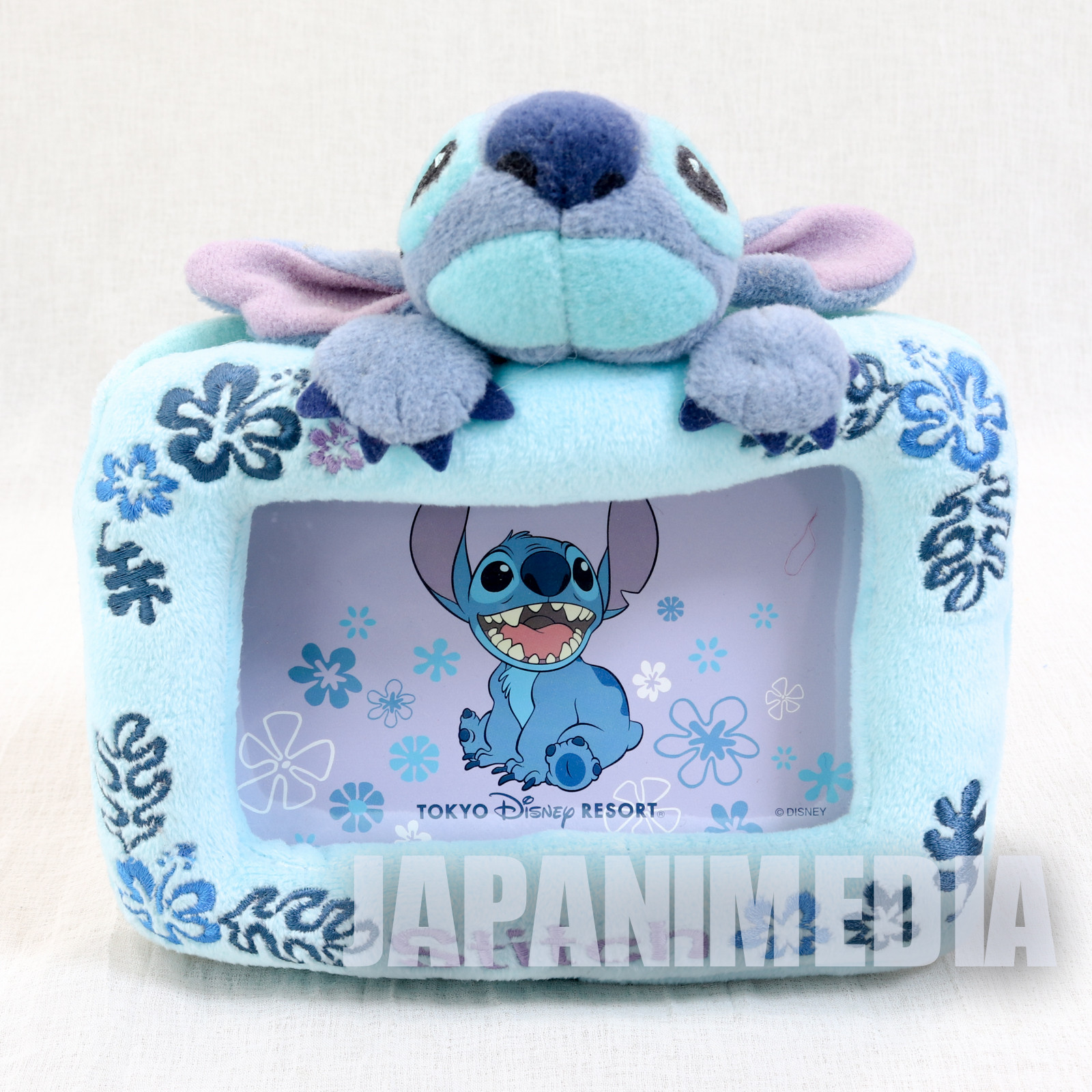 Stitch Plush type Photo Frame Stand Tokyo Disney Resort JAPAN ANIME