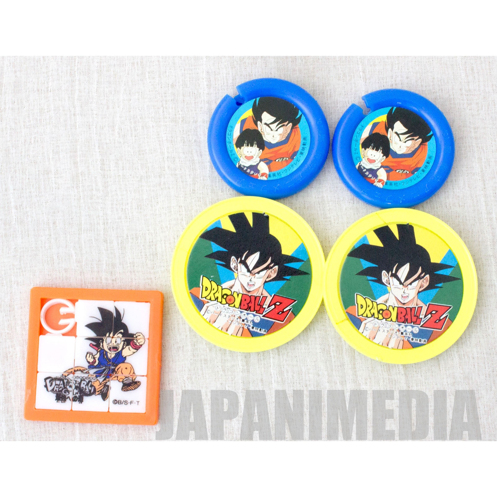 Dragon Ball Z Plastic Clip 4pc & Sliding Puzzle Set [Gokou | Gohan]JAPAN ANIME MANGA