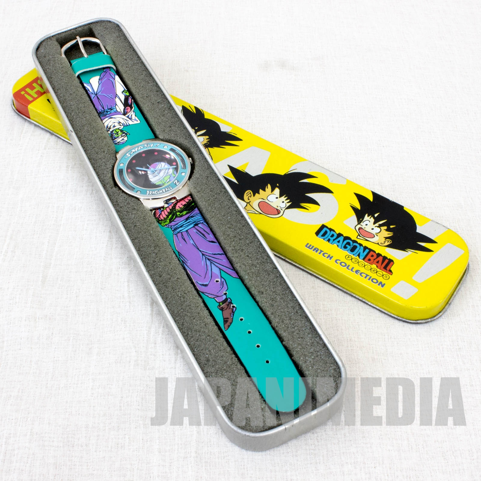 Retro RARE!! Dragon Ball Z Piccolo Wrist watch with Can case JAPAN ANIME MANGA