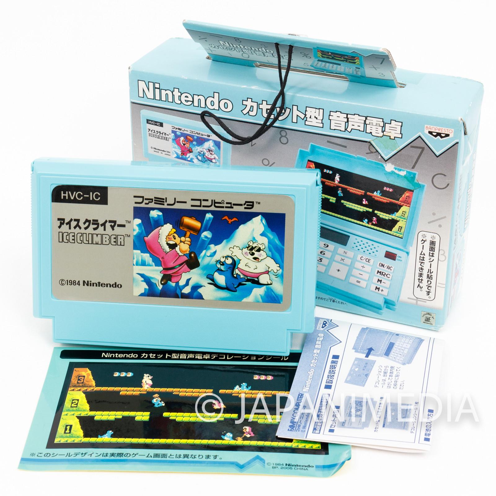 Nintendo NES Famicom Type Sound Calculator Ice Climber JAPAN GAME