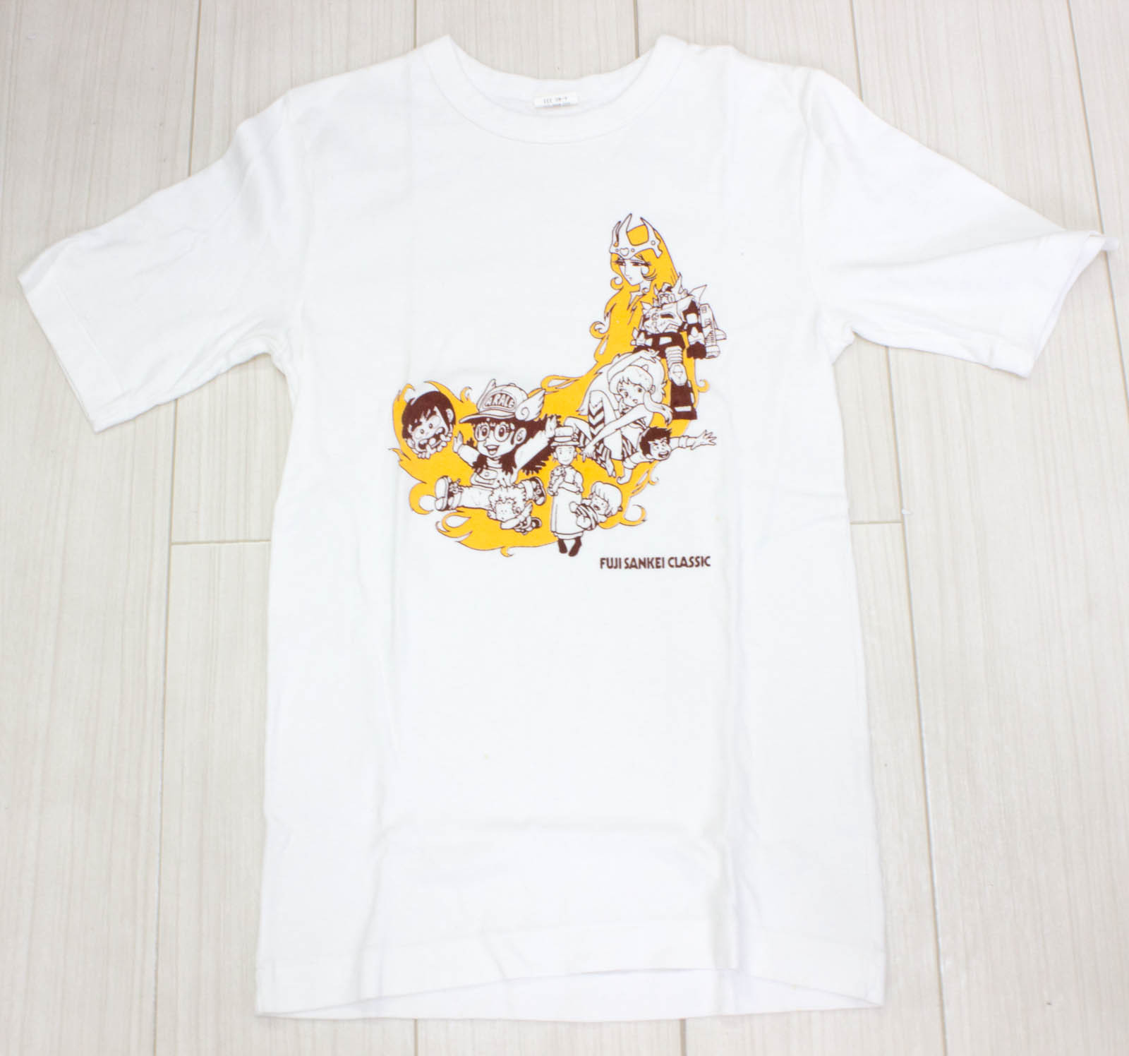 Retro RARE Fuji Sankei Classic T-Shirt Arale-chan Urusei Yatsura JAPAN ANIME