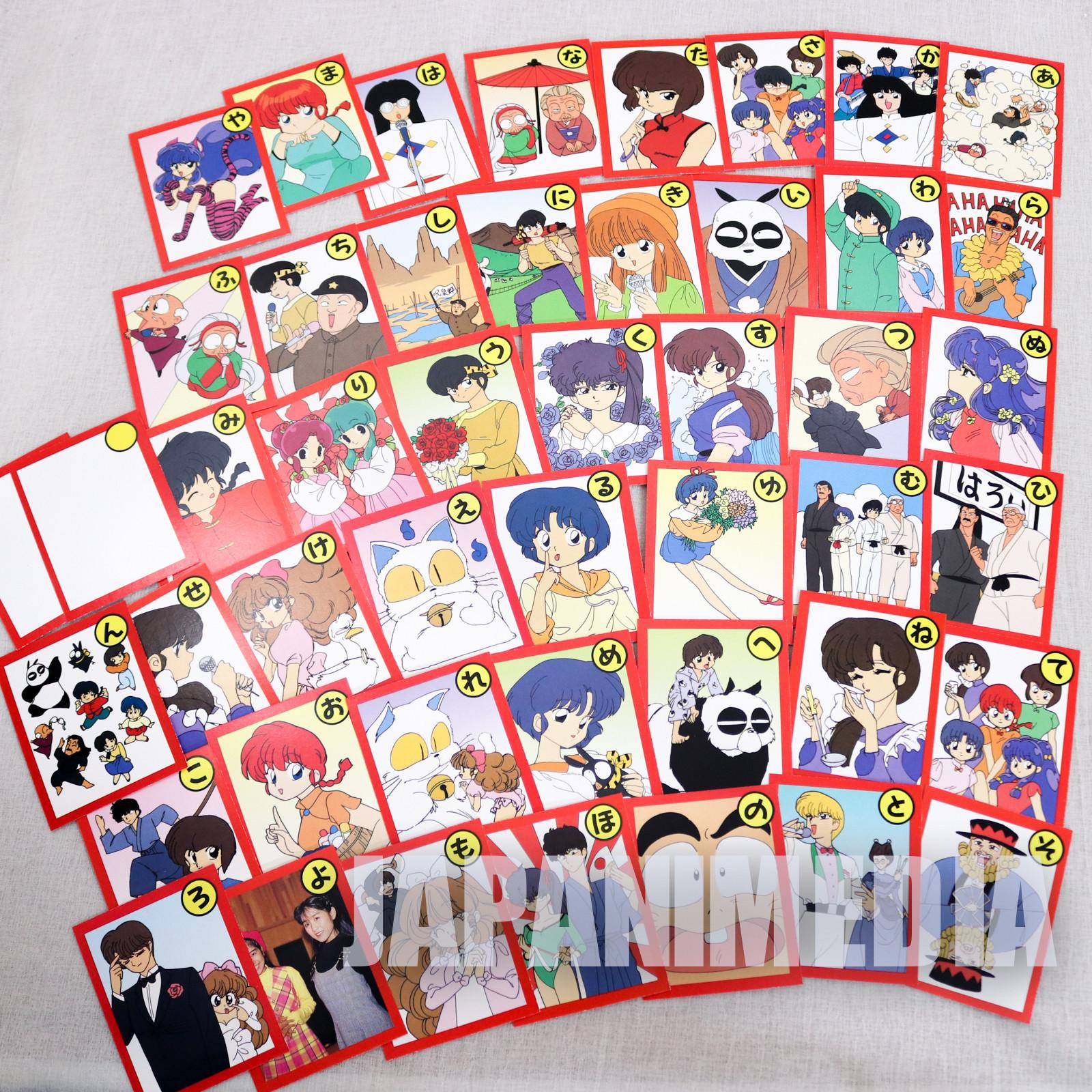 Ranma 1/2 KARUTA Japanese Card Game ANIME RUMIKO TAKAHASHI