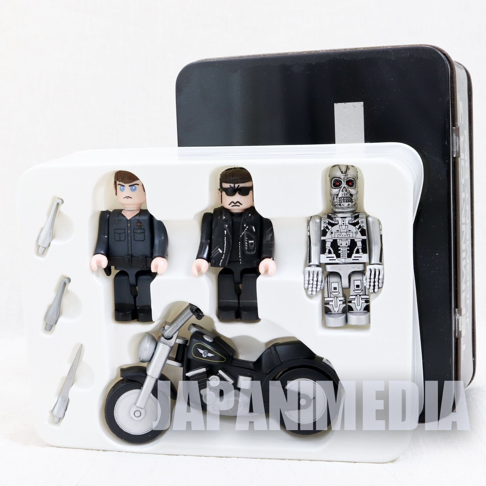 T2 Terminator Cube Figures with Bike Tin Can Set