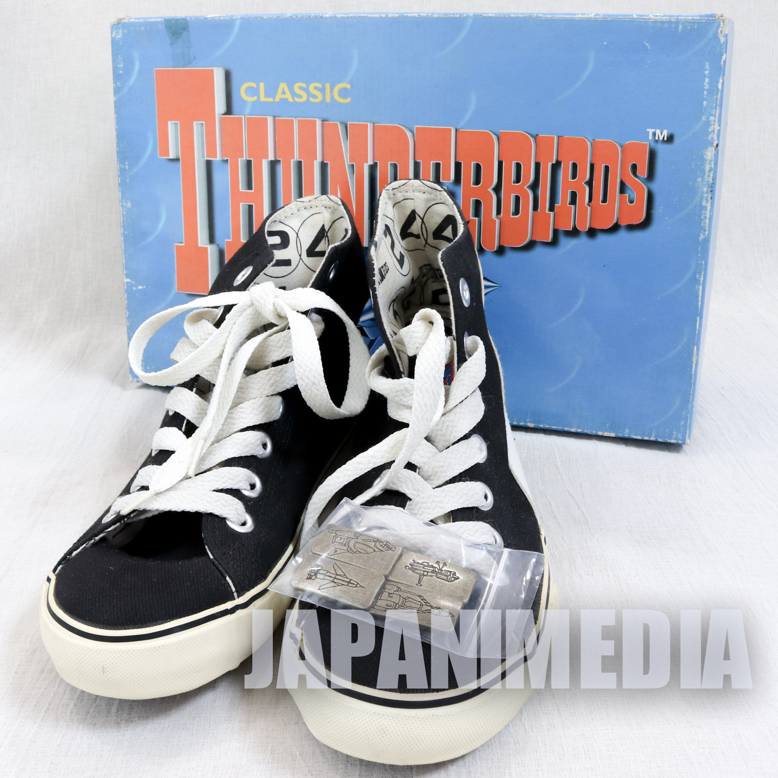 RARE! Classic Thunderbirds Sneakers Shoes Black Japan 24.0cm size