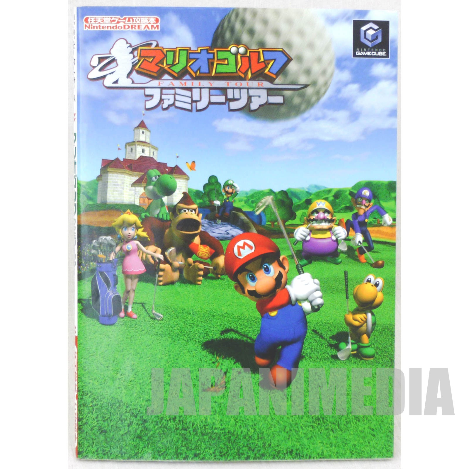 Mario Golf Family Tour Guide Book Nintendo Game Cube JAPAN GAME
