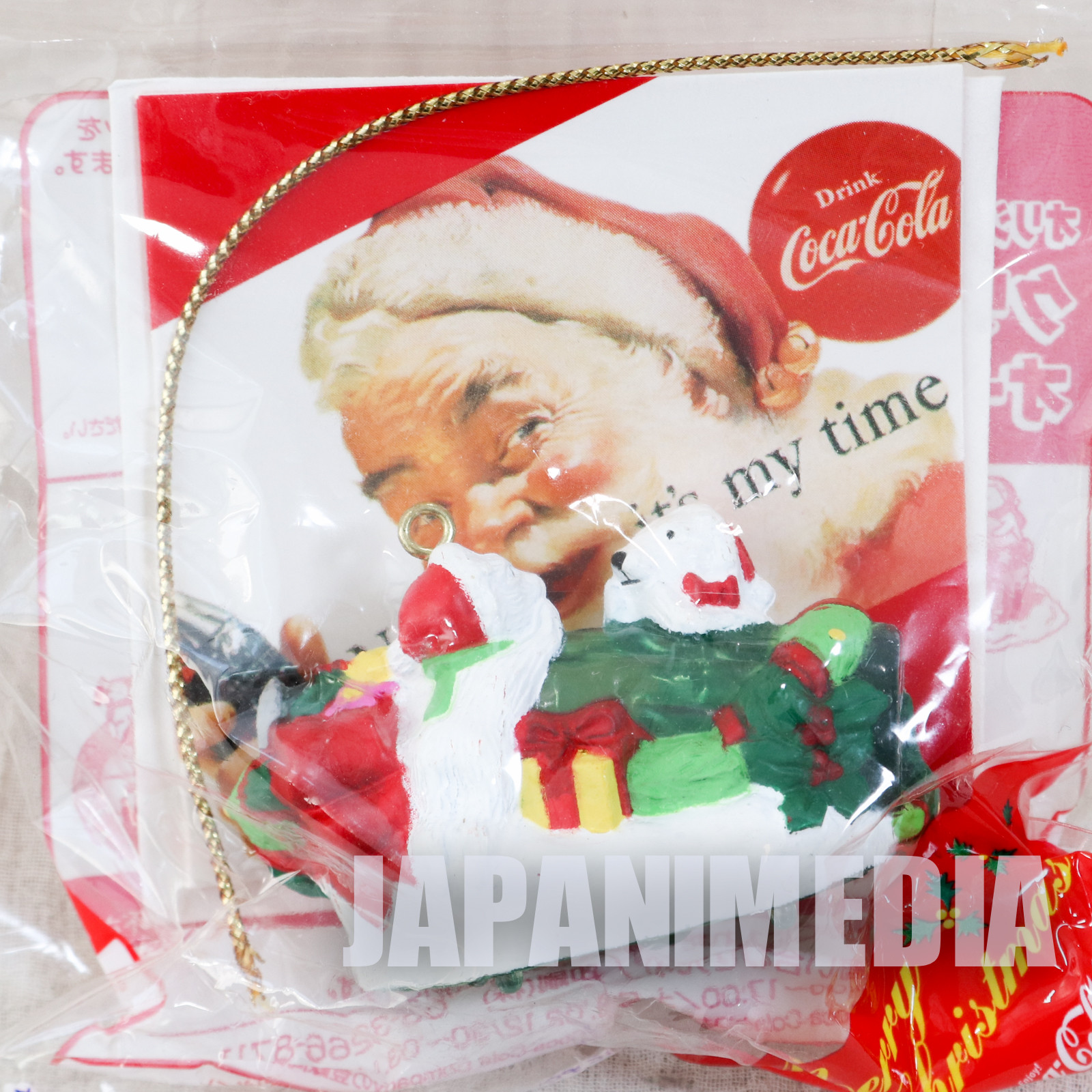 Coca-Cola Christmas Ornament Miniature Figure Kaiyodo JAPAN 2