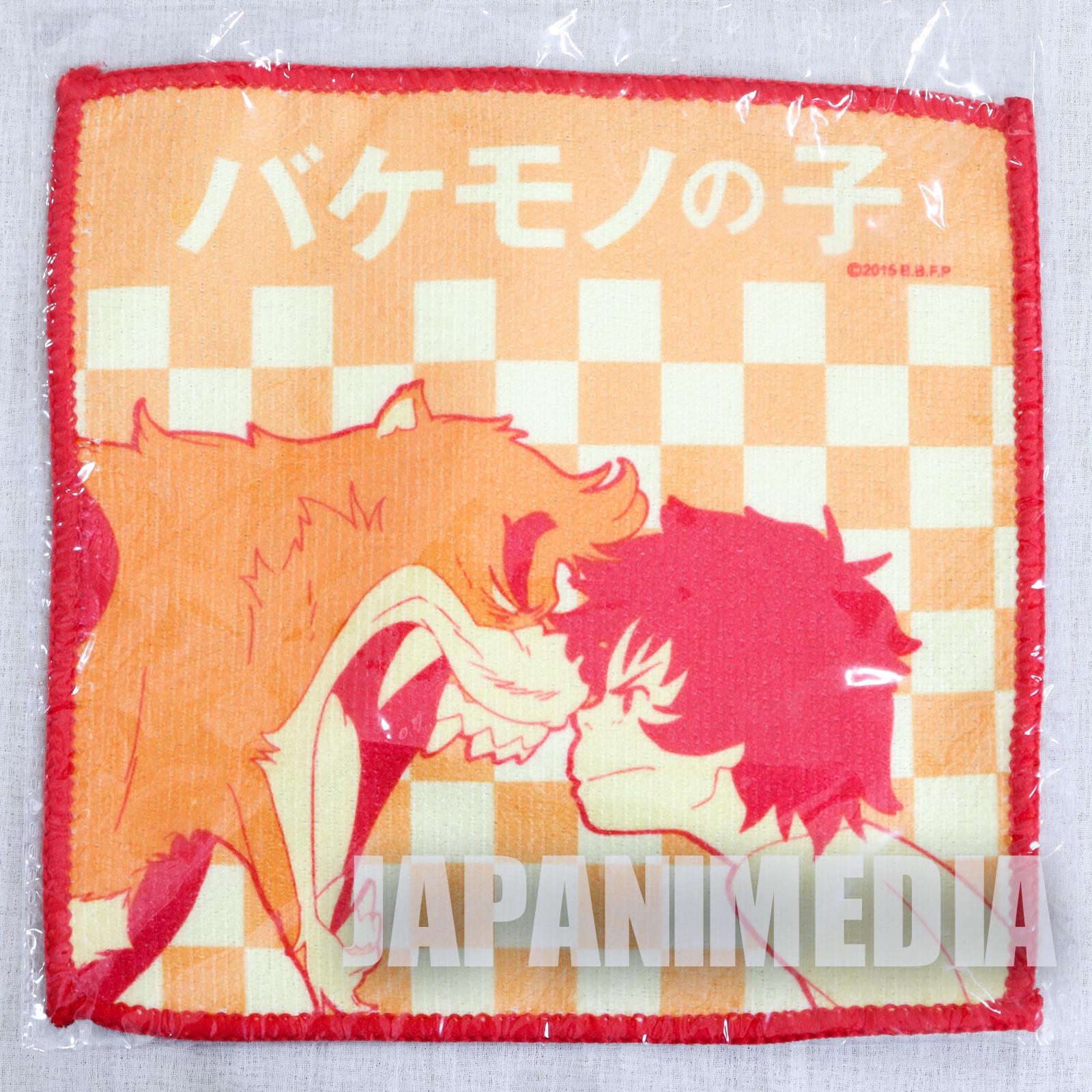 The Boy and The Beast Kyuta & Kumatetsu Hand Towel 7x7 inch JAPAN ANIME