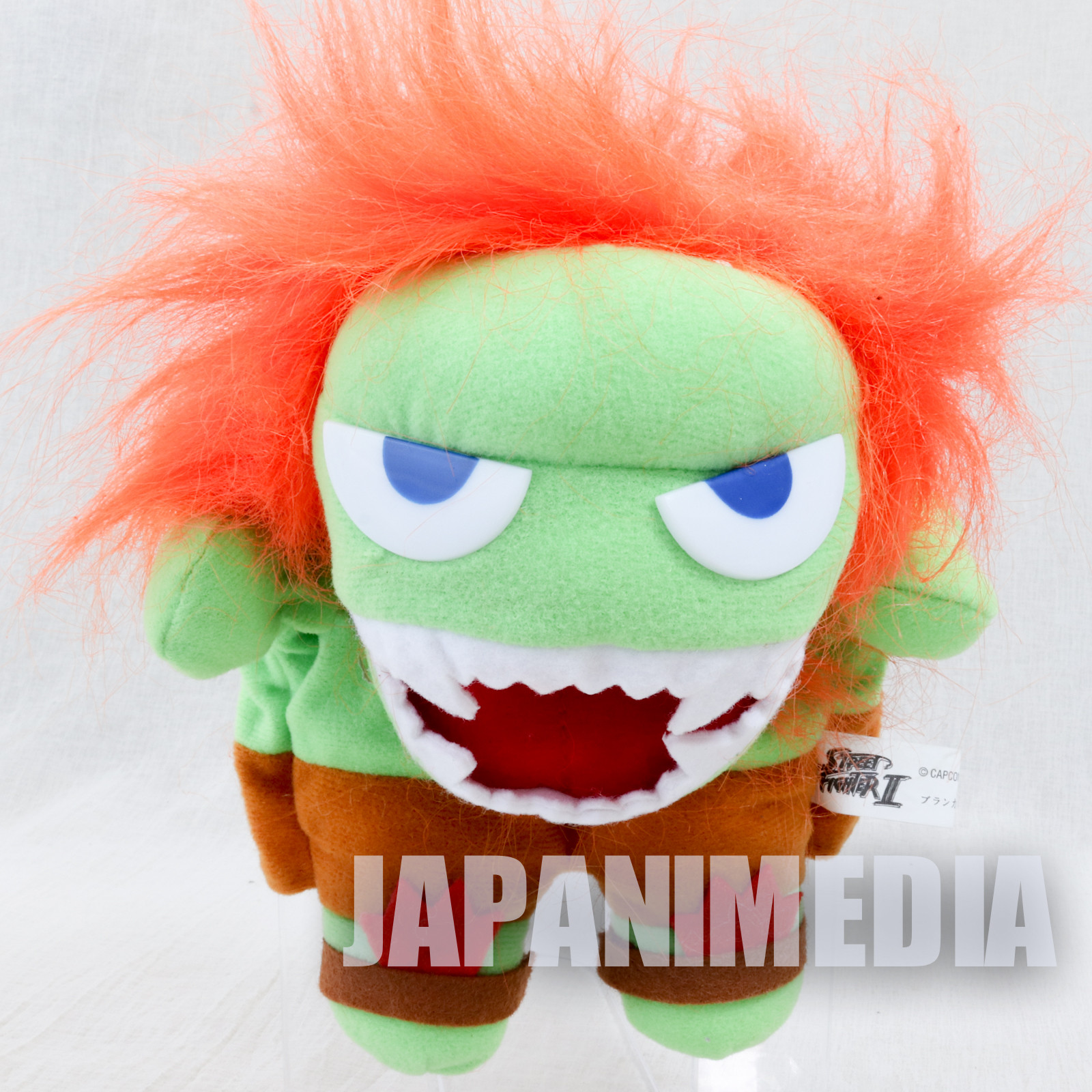 Street Fighter 2 Blanka Hand Puppet Plush Doll Capcom Character JAPAN GAME