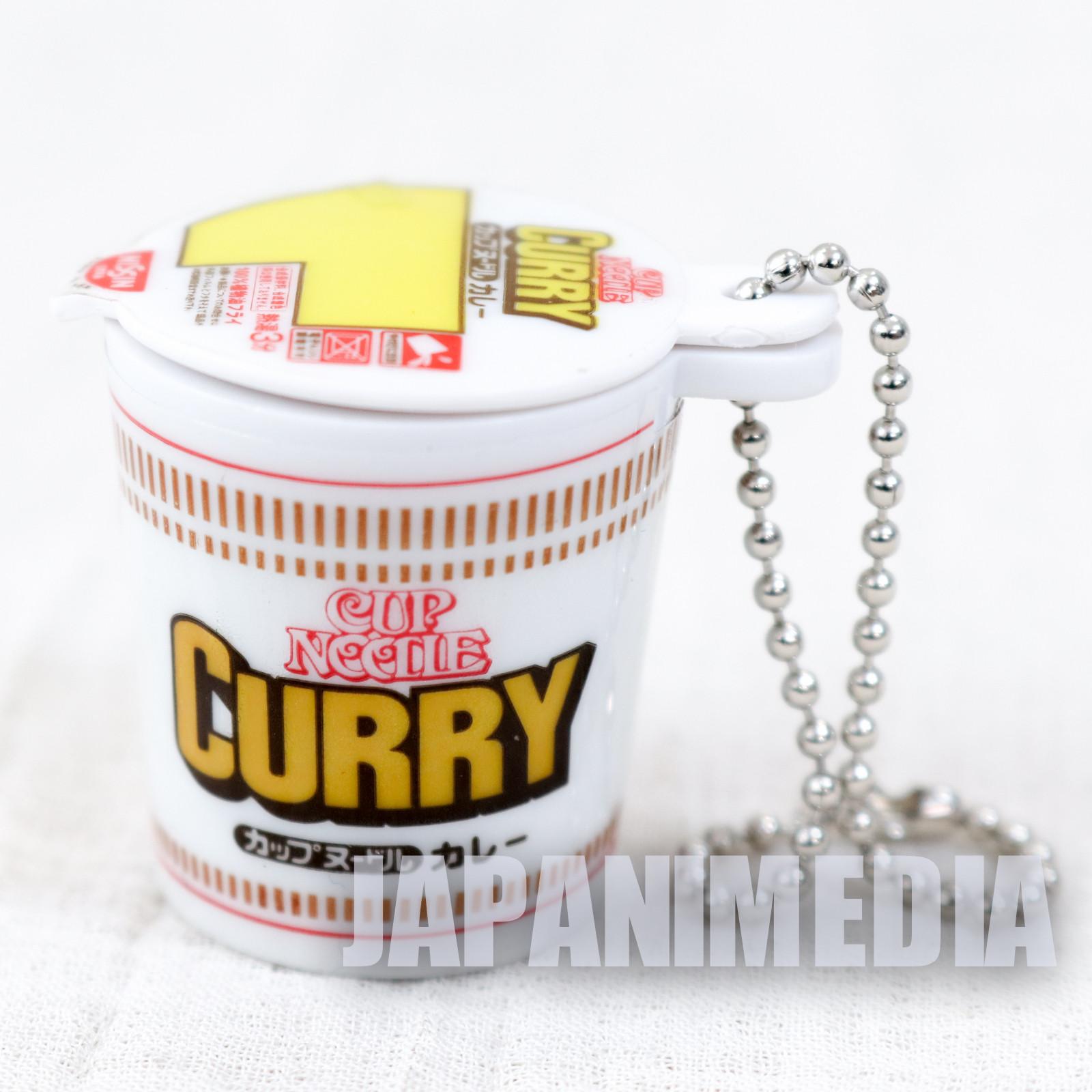 Nissin Cup Noodle Curry Miniature Mascot Figure Ballchain JAPAN