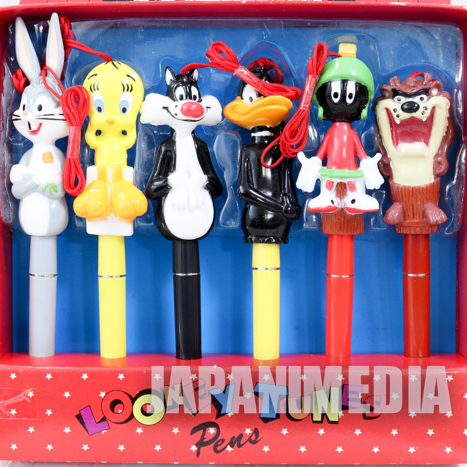 Retro Looney Tunes Tweety Sylvester Taz Bugs Daffy Marvin Ballpoint Pen Set