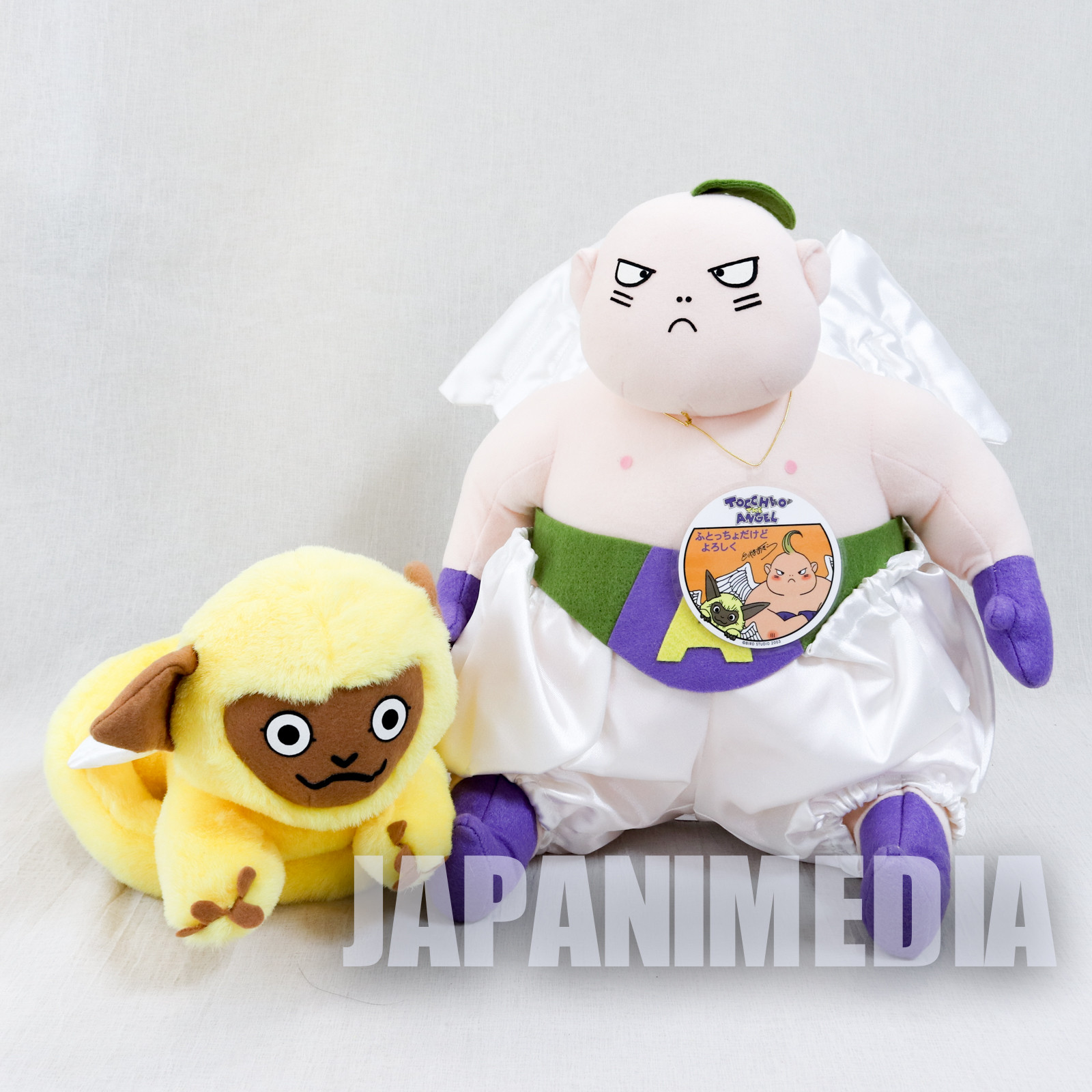 RARE! Tocchio the Angel and Mamo Plush Doll Set Toriyama Akira JAPAN DRAGONBALL