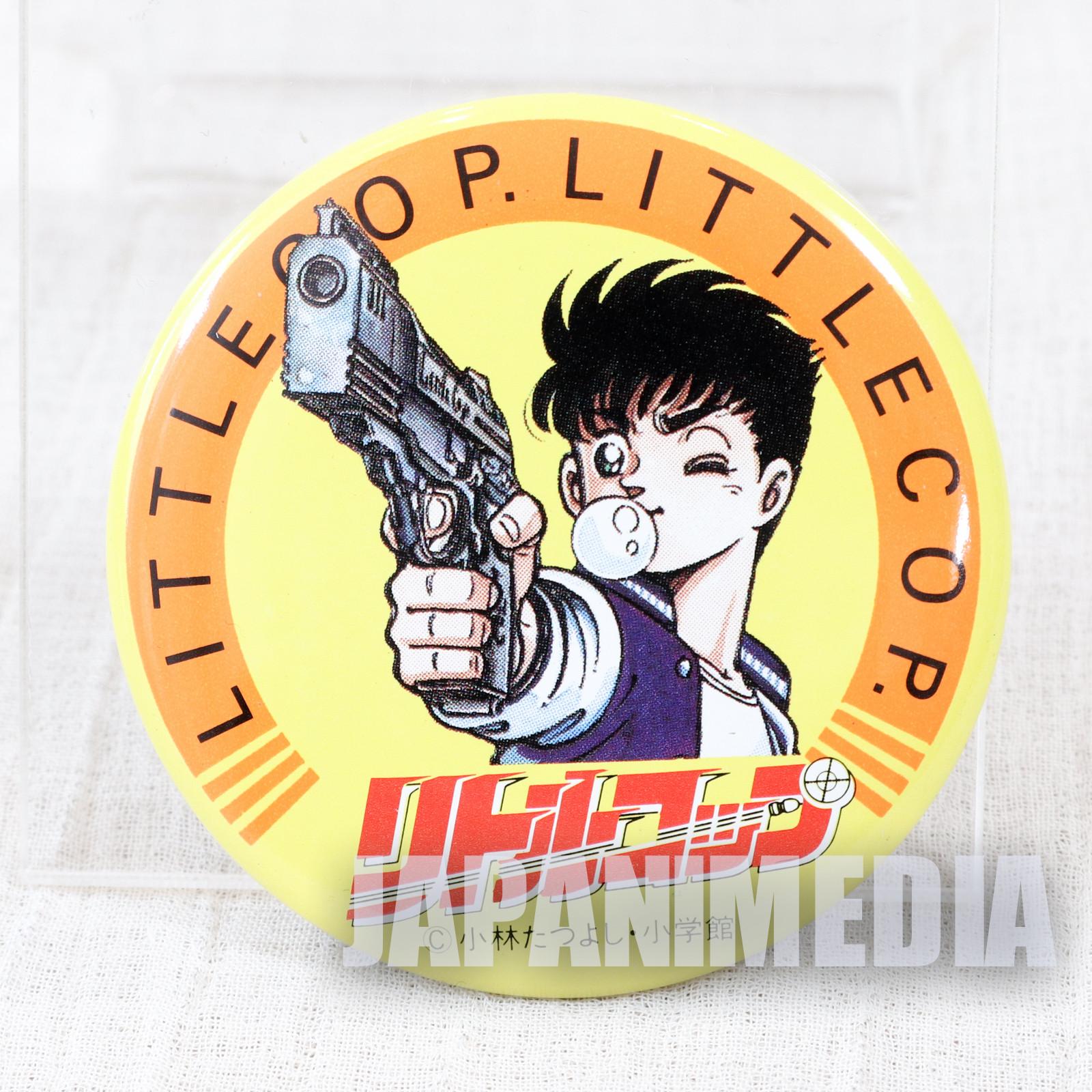 Retro Little Cop Button badge JAPAN ANIME MANGA