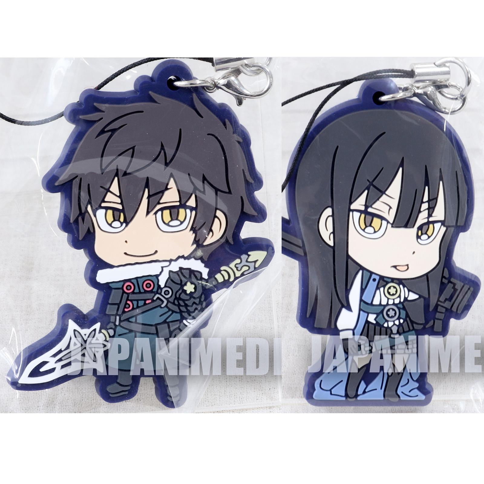 RARE! Summon Night 6 Raj & Amu Rubber Mascot Strap Set JAPAN GAME