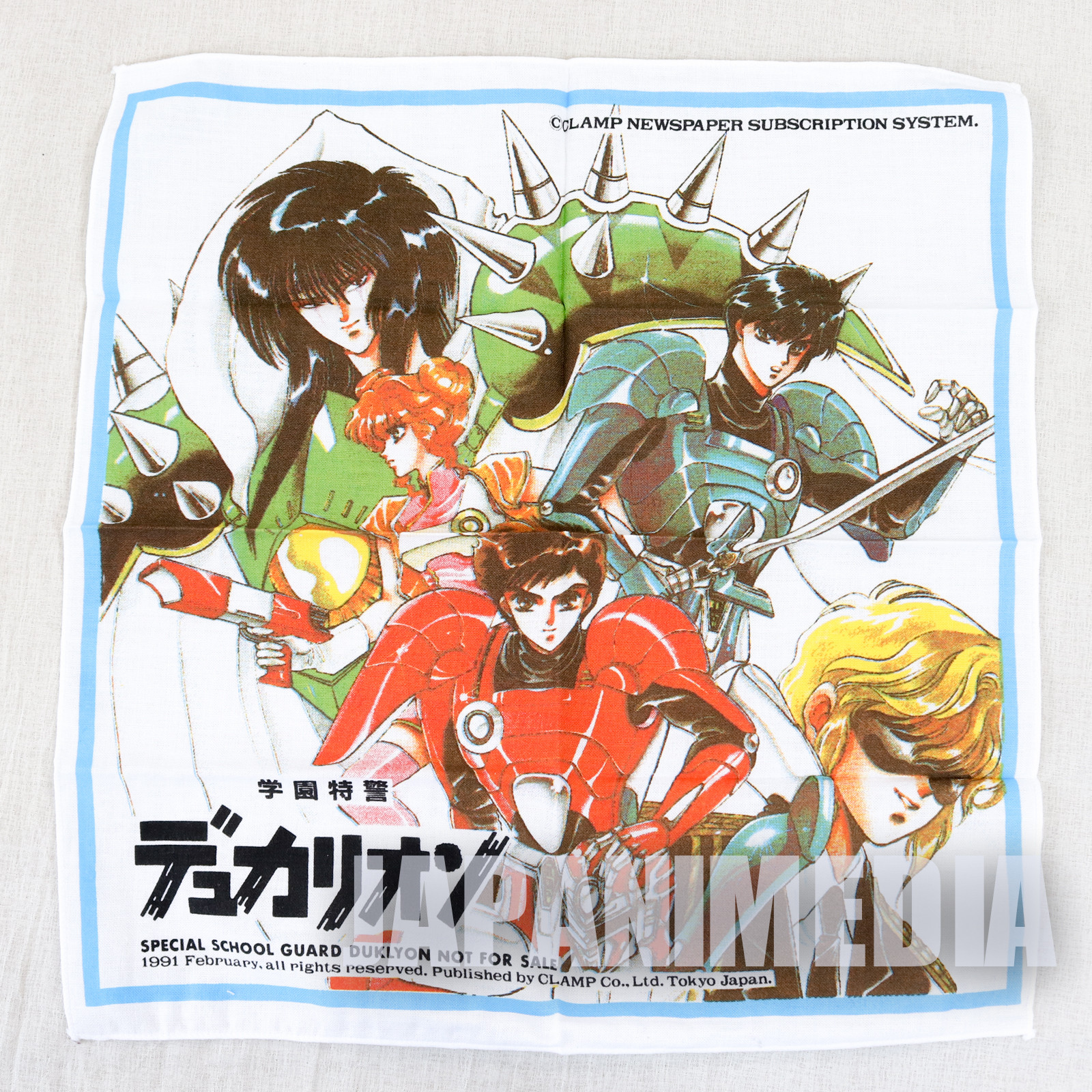 RARE! Special School Guard Duklyon CLAMP Handkerchief Cloth JAPAN MANGA