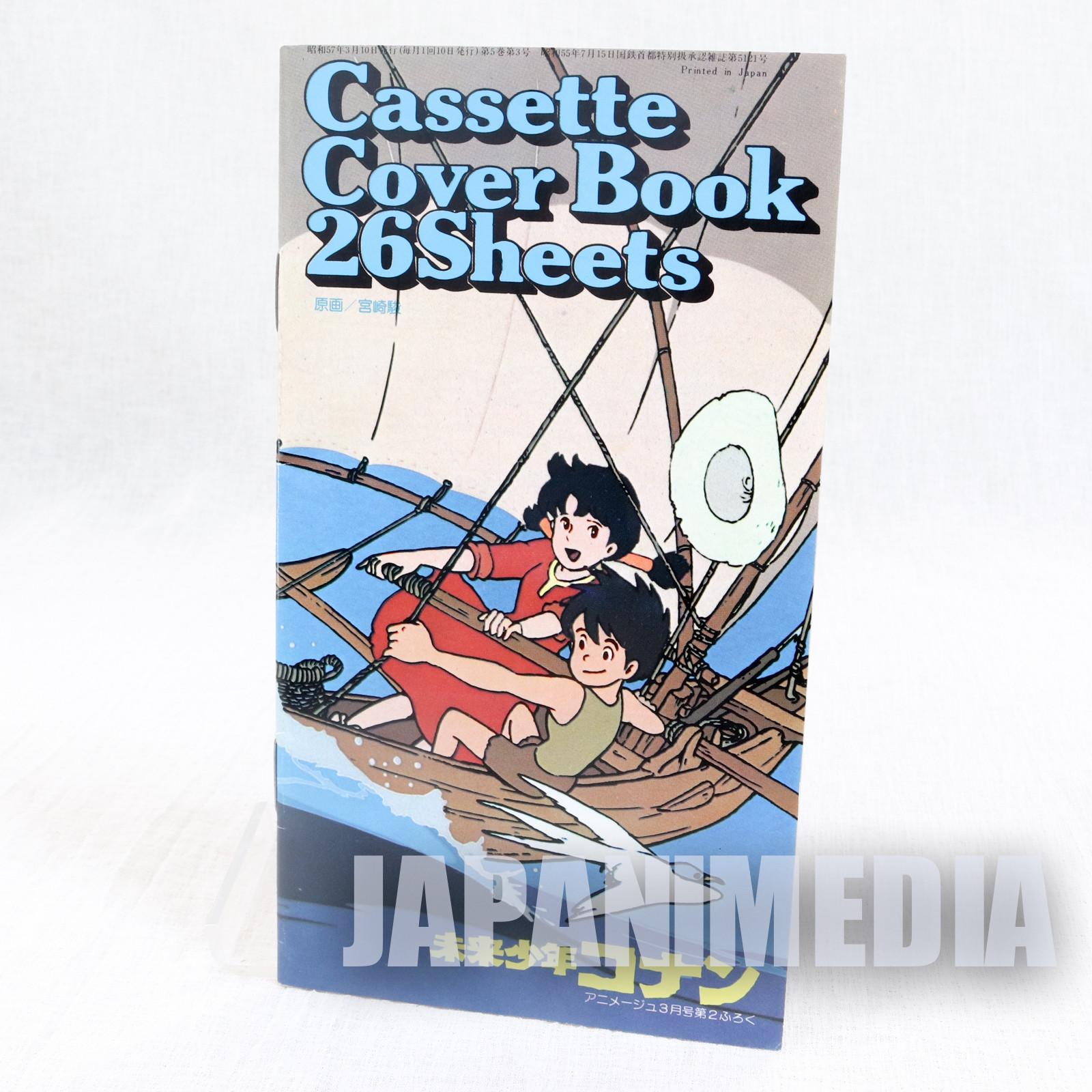 RARE! Future Boy Conan Cassette Cover 26 Sheets Booklet JAPAN HAYAO MIYAZAKI