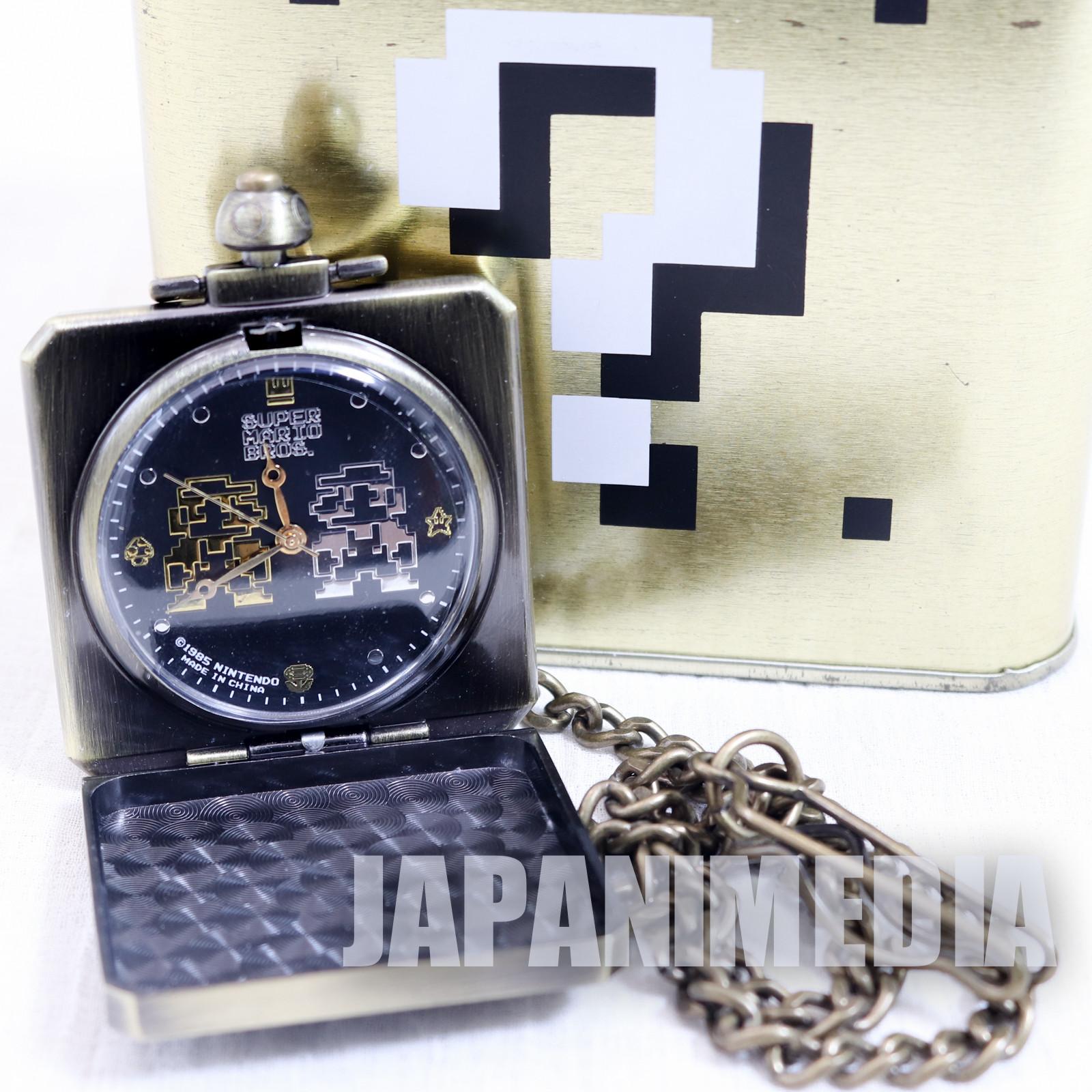 Super Mario Bros. Hatena Block Pocket Watch Mario & Luigi Ver. JAPAN NINTENDO NES