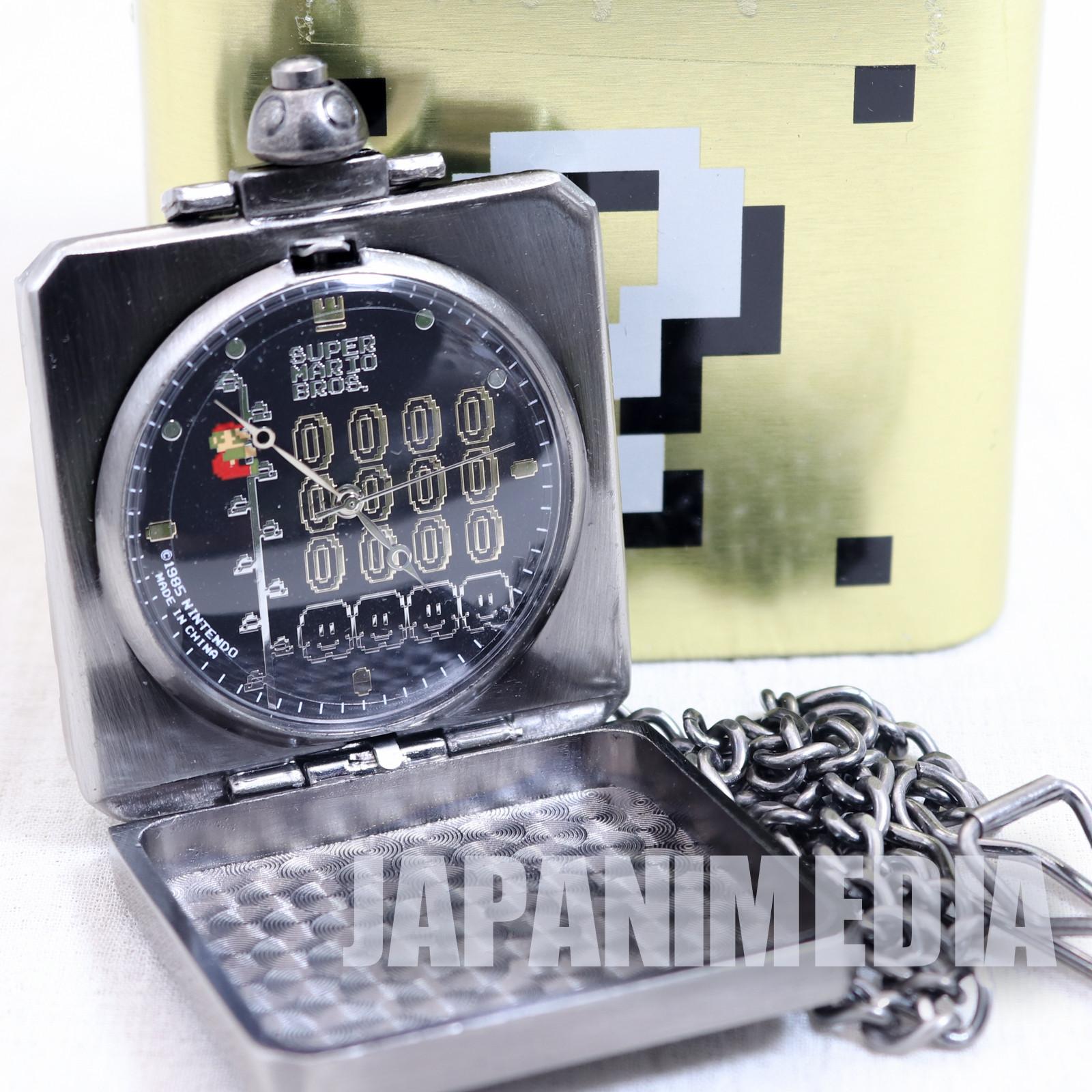 Super Mario Bros. Hatena Block Pocket Watch Mario & Coin Ver. JAPAN NINTENDO