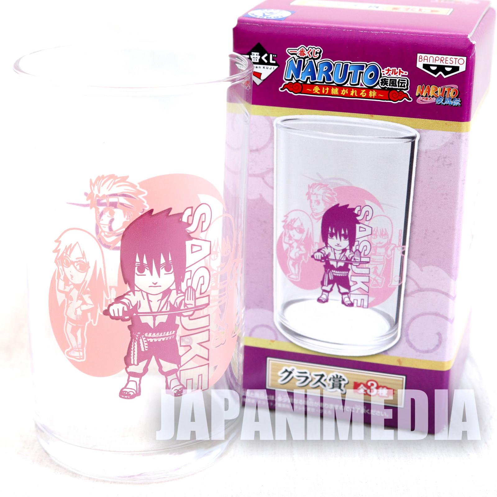 Naruto Sasuke Uchiha Glass Banpresto JAPAN ANIME