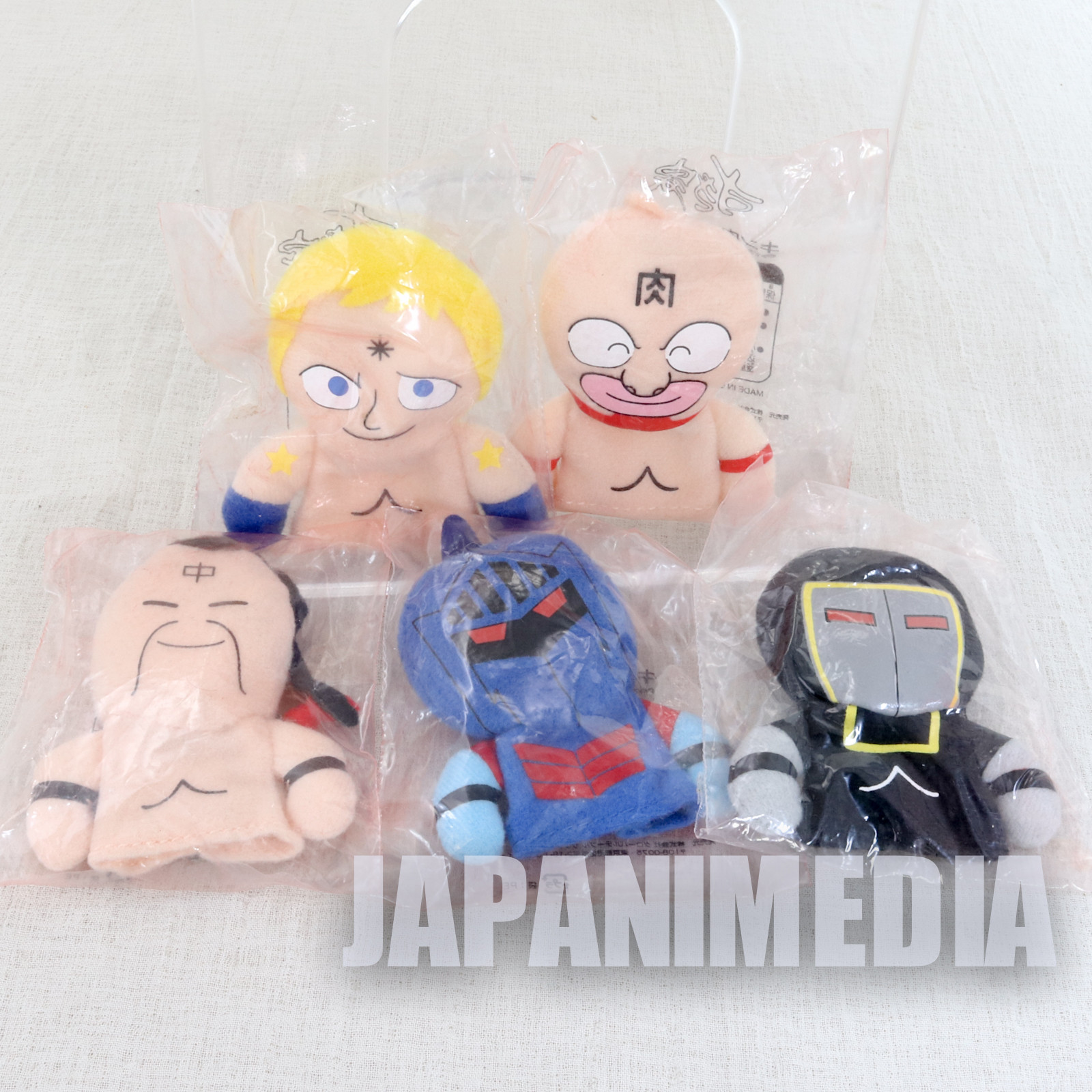 Kinnikuman Finger Puppet Plush Doll 5pc Set JAPAN ANIME ULTIMATE MUSCLE MAN