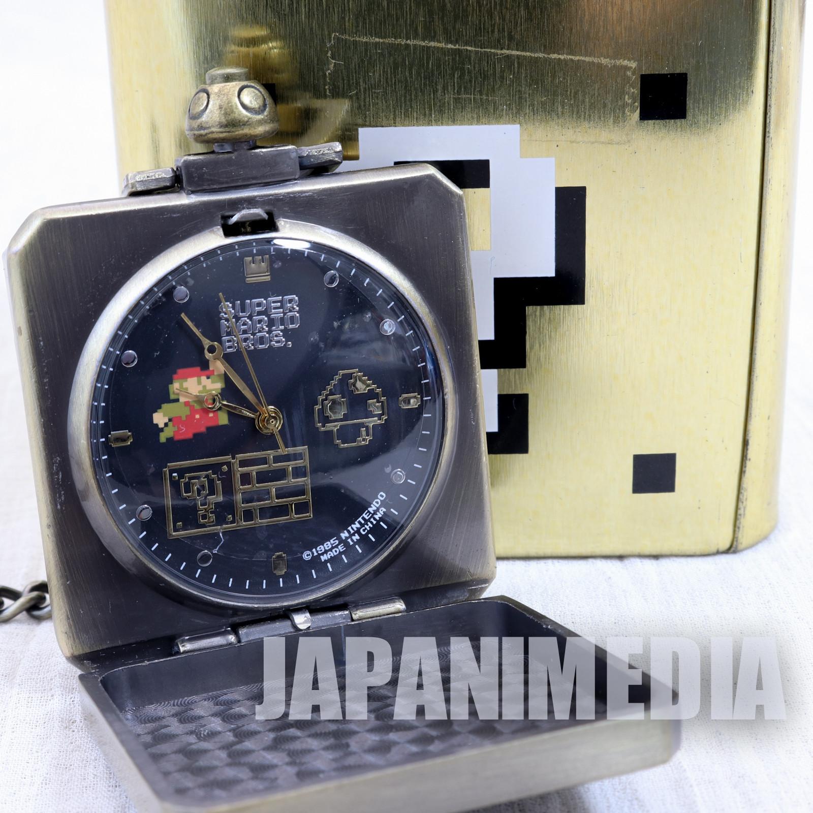 Super Mario Bros. Hatena Block Pocket Watch Mario Super Mushroom Ver. JAPAN NINTENDO NES