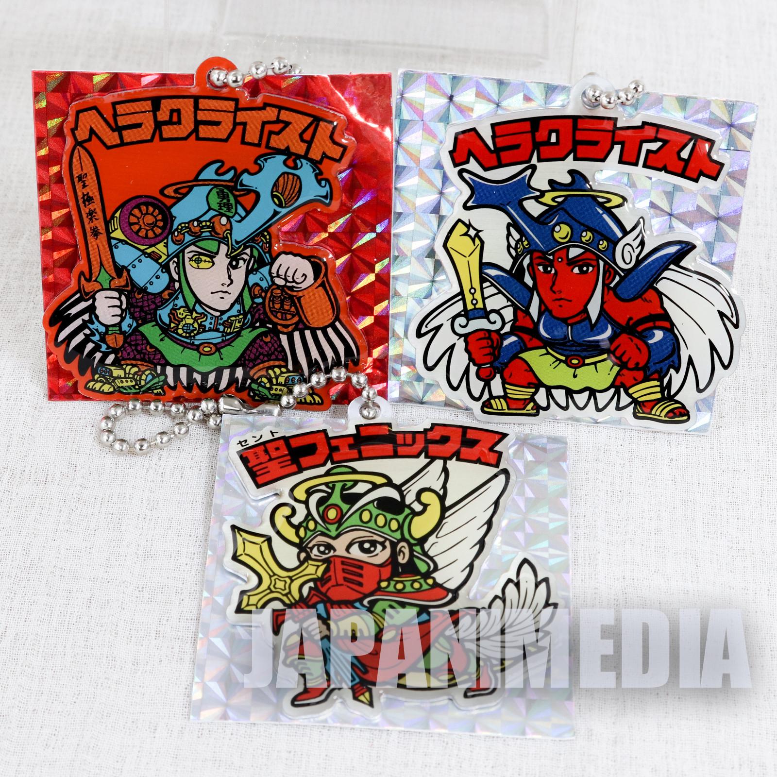 Bikkuriman Mascot Ballchain 3pc Set Herakuraisuto Saint Phoenix JAPAN ANIME