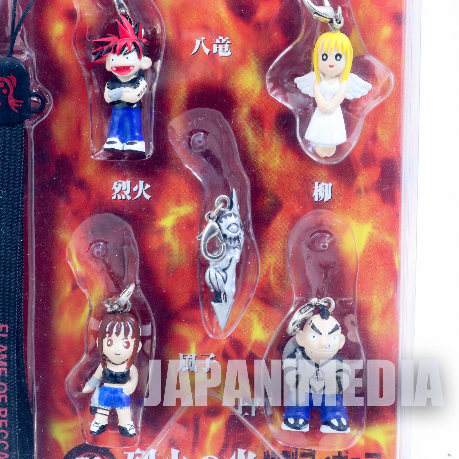 Flame of Recca Mascot Figure Strap Recca / Fuko / Yanagi / Domon REKKAA no HONOO
