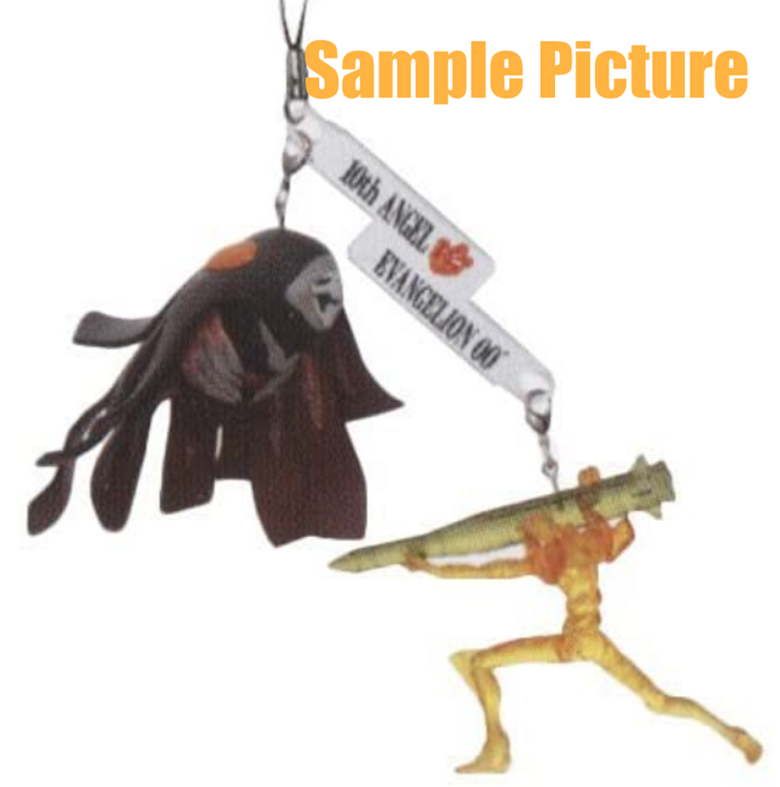 Evangelion EVA-00 vs Zeruel Angel Twin Figure Strap JAPAN ANIME