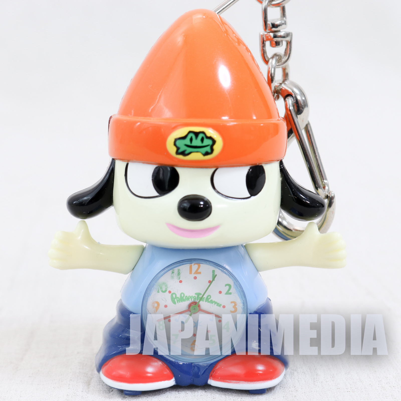 RARE! Parappa The Rapper PARAPPA Figure Pocket Watch Keychain JAPAN