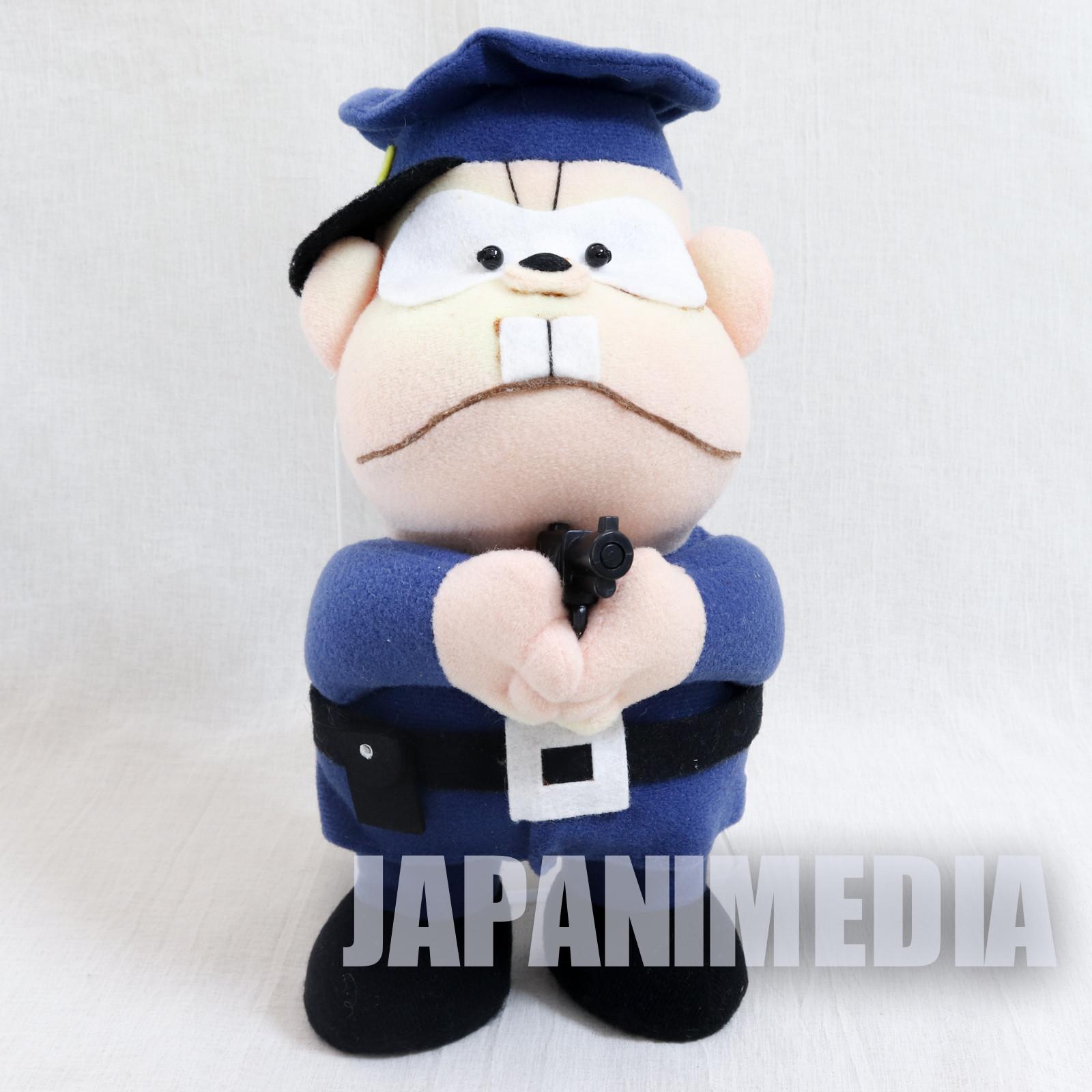 Genius Tensai Bakabon Police Officer Plush Doll Fujio Akatsuka JAPAN