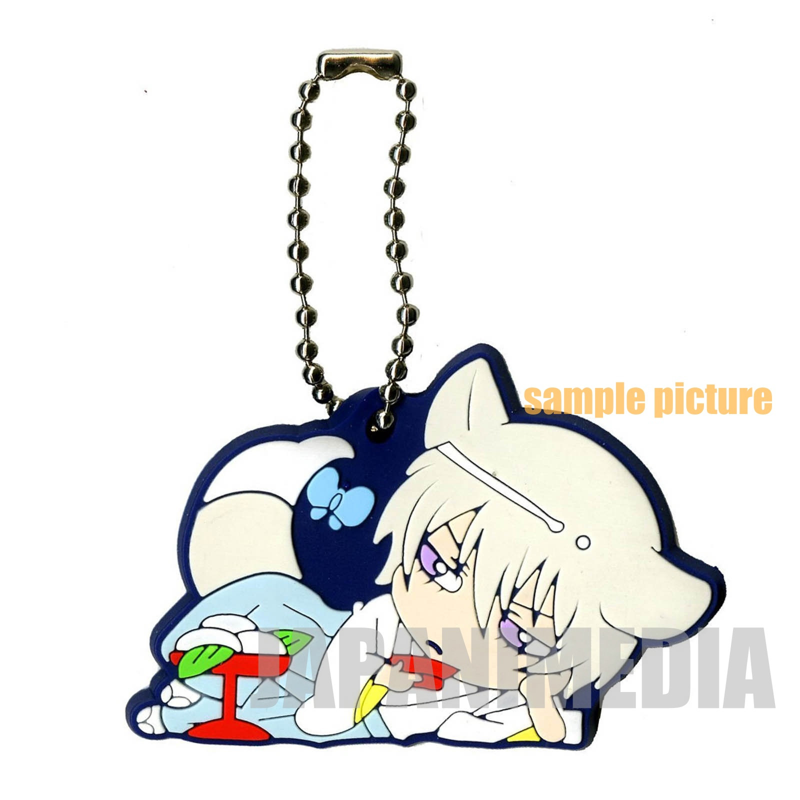Kamisama Kiss Tomoe Otsukimi Rubber Mascot Ball keychain JAPAN ANIME