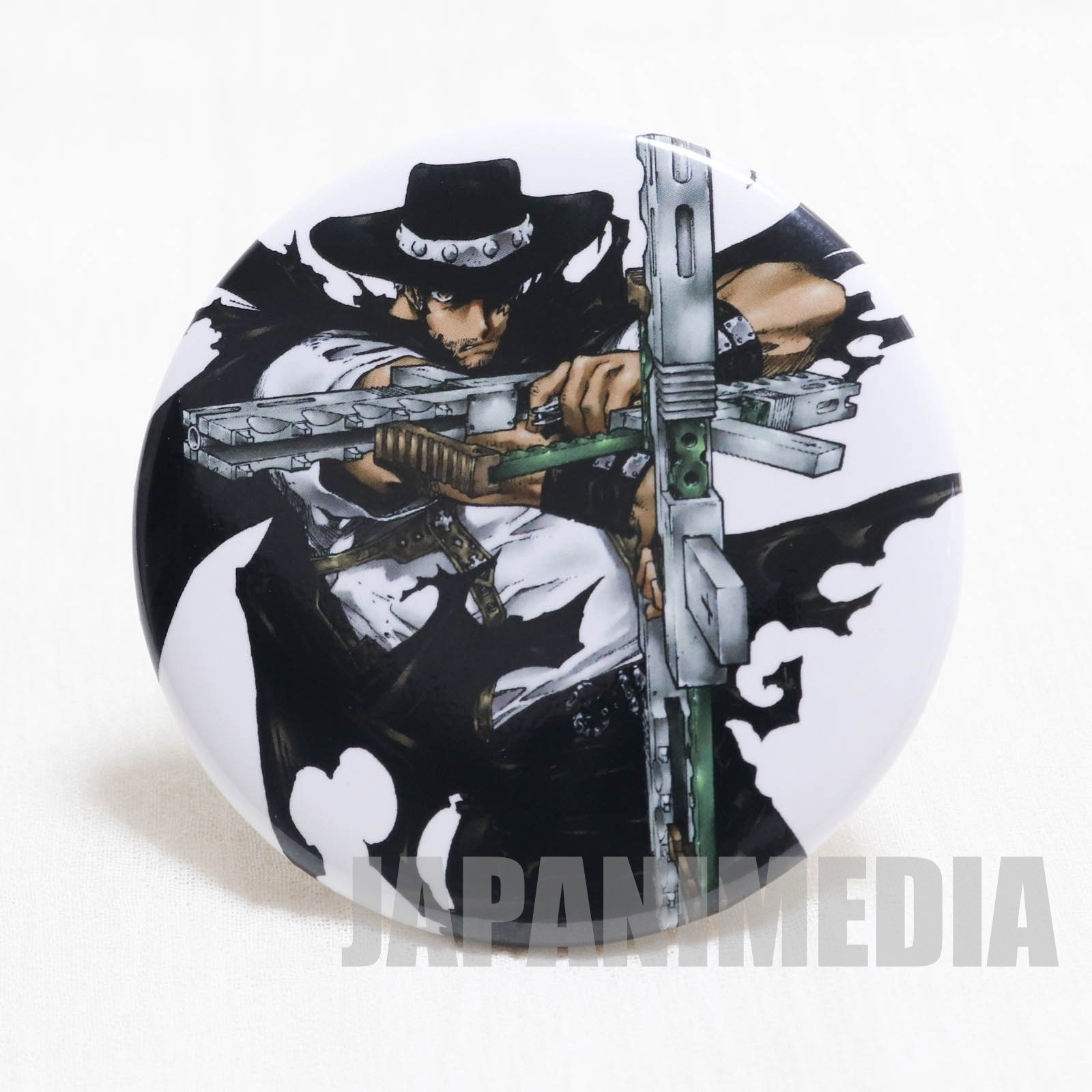 TRIGUN Livio the Double Fang Trading Button Badge JAPAN ANIME