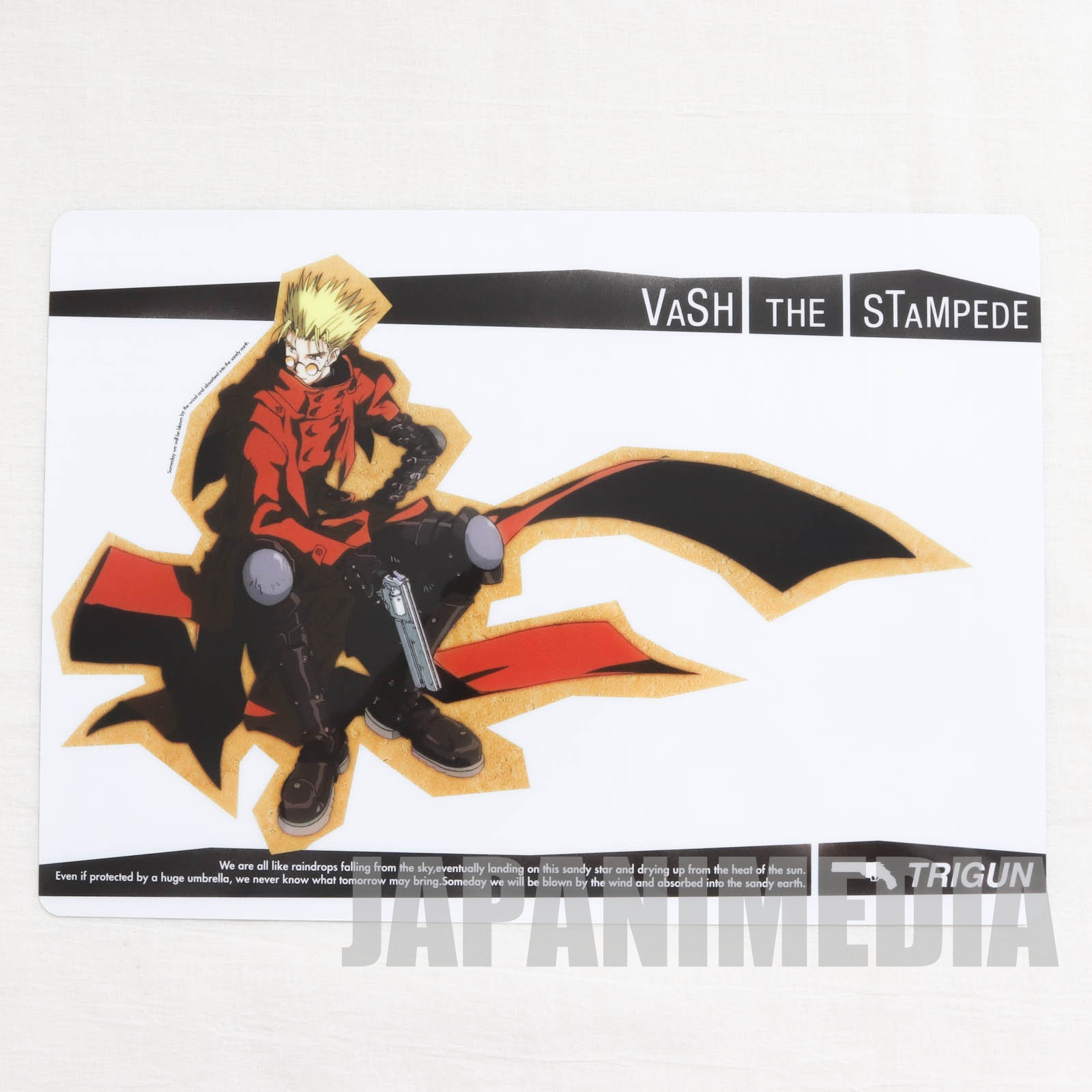 TRIGUN Vash the Stampede Plastic Pencil Board Pad Shitajiki JAPAN ANIME