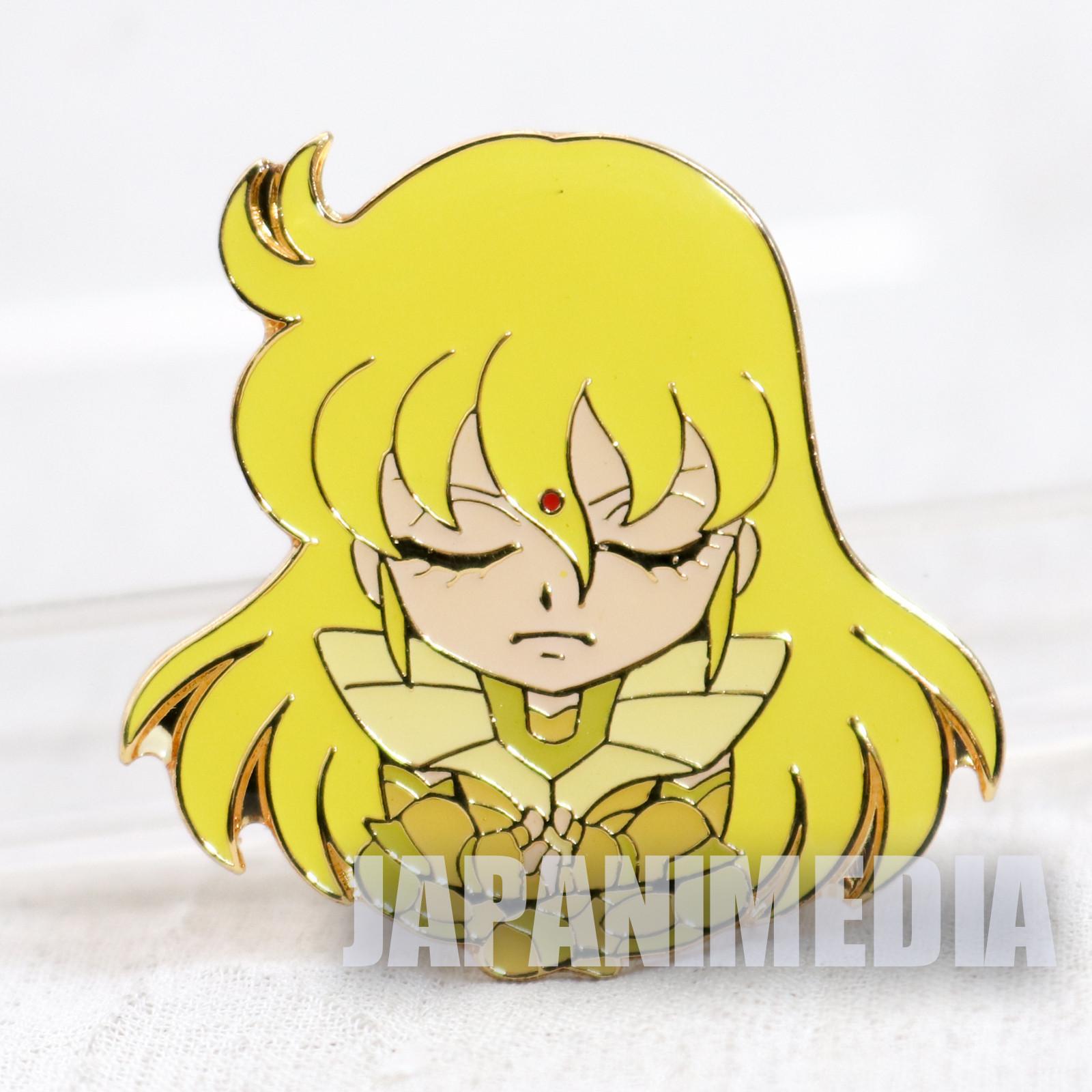 Saint Seiya Gold Saint Virgo Shaka Metal Pins JAPAN ANIME MANGA