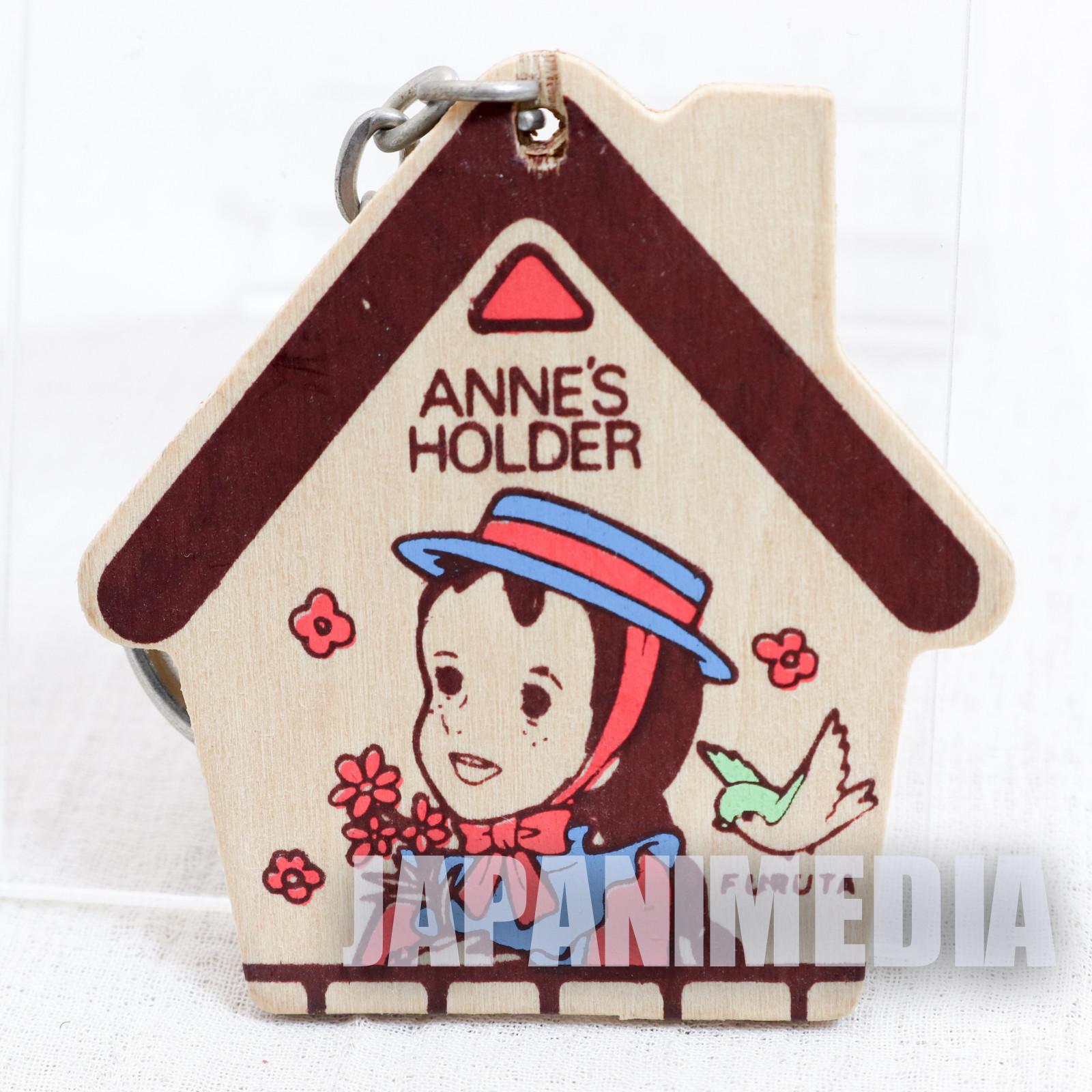 Anne of Green Gables Wooden Mascot Keychian Furuta JAPAN ANIME